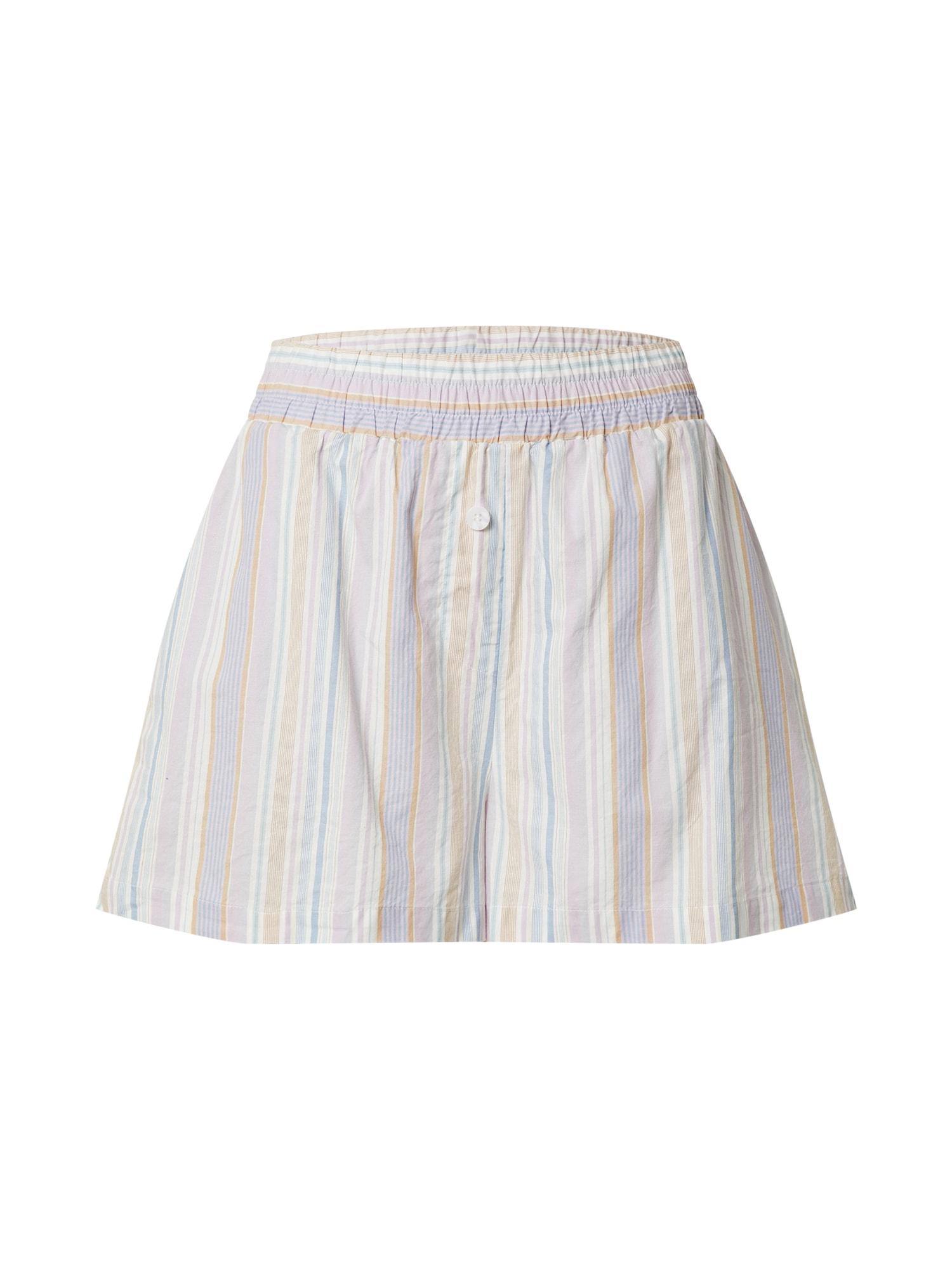 Cotton On Kelnės balta / šviesiai violetinė / šviesiai ruda / šviesiai mėlyna
