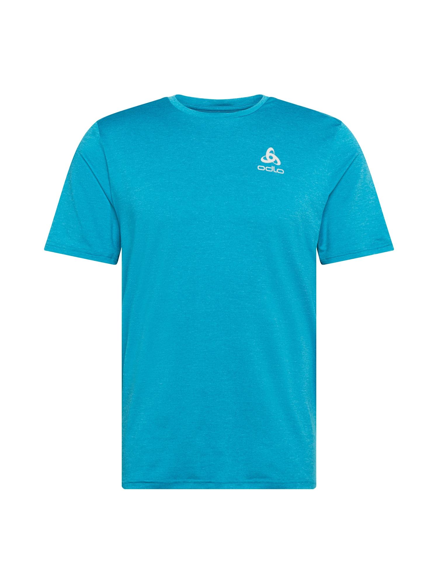 ODLO Sportiniai marškinėliai neoninė mėlyna / balta