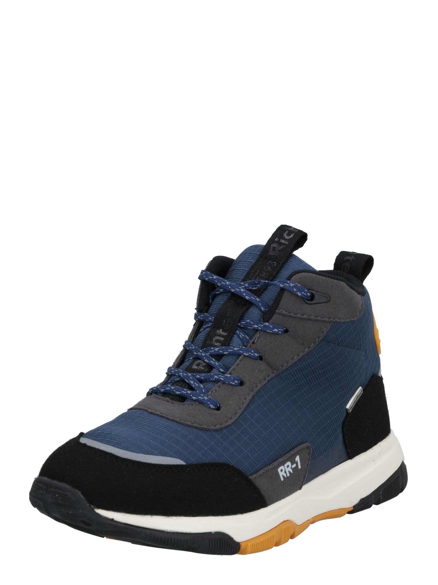 RICHTER Auliniai batai su kulniuku juoda / tamsiai mėlyna / rausvai pilka / oranžinė