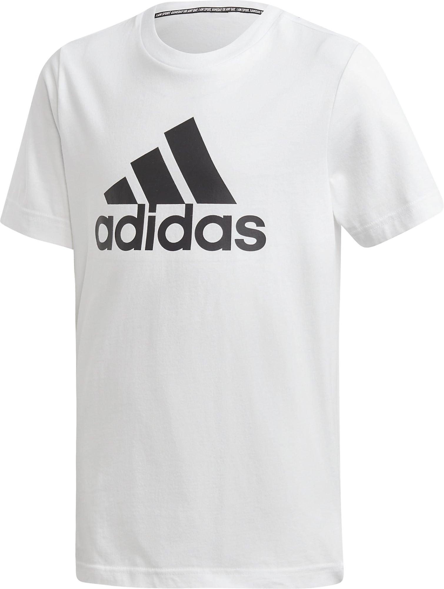 ADIDAS PERFORMANCE Tričko  čierna / biela
