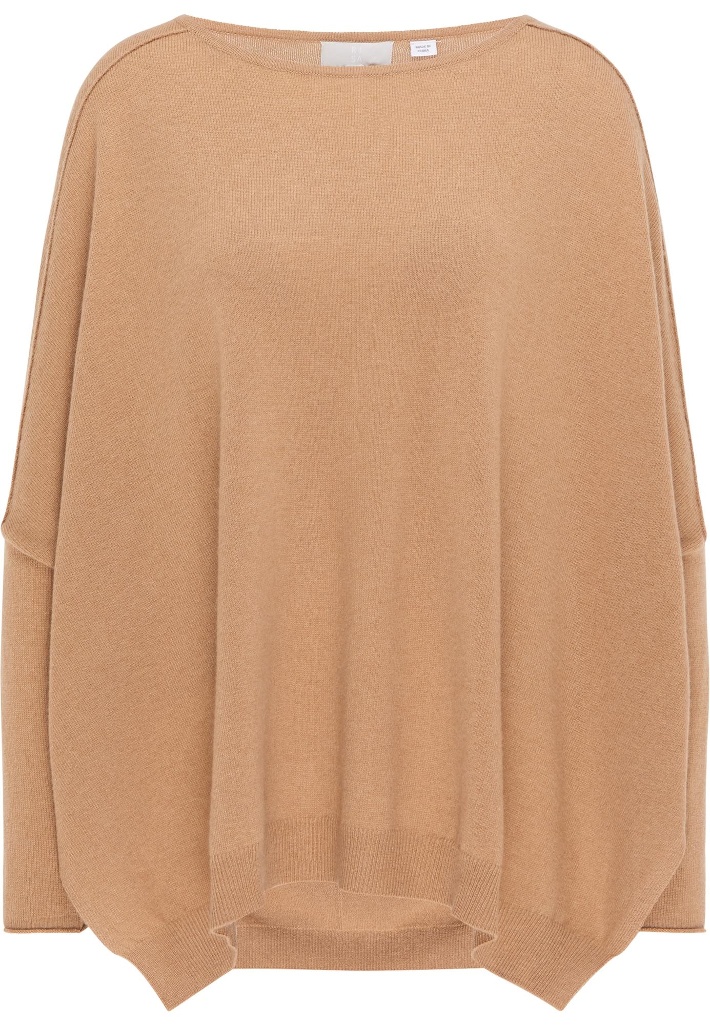 RISA Laisvas megztinis šviesiai ruda