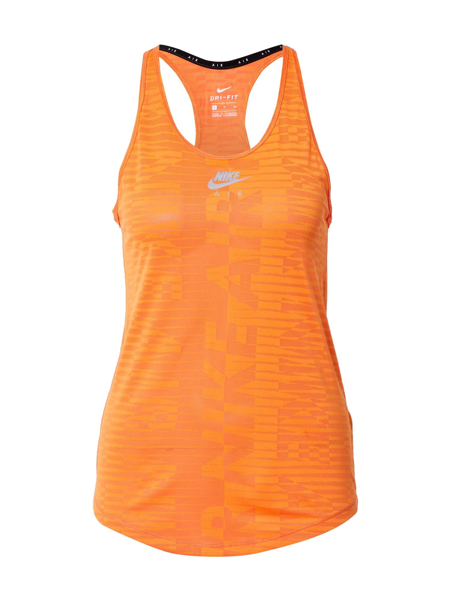 NIKE Sportiniai marškinėliai be rankovių oranžinė / pilka