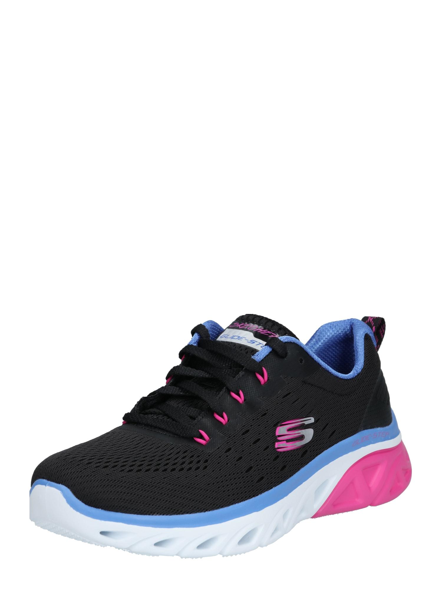 SKECHERS Nízke tenisky 'Glide Step'  čierna / modrá / ružová