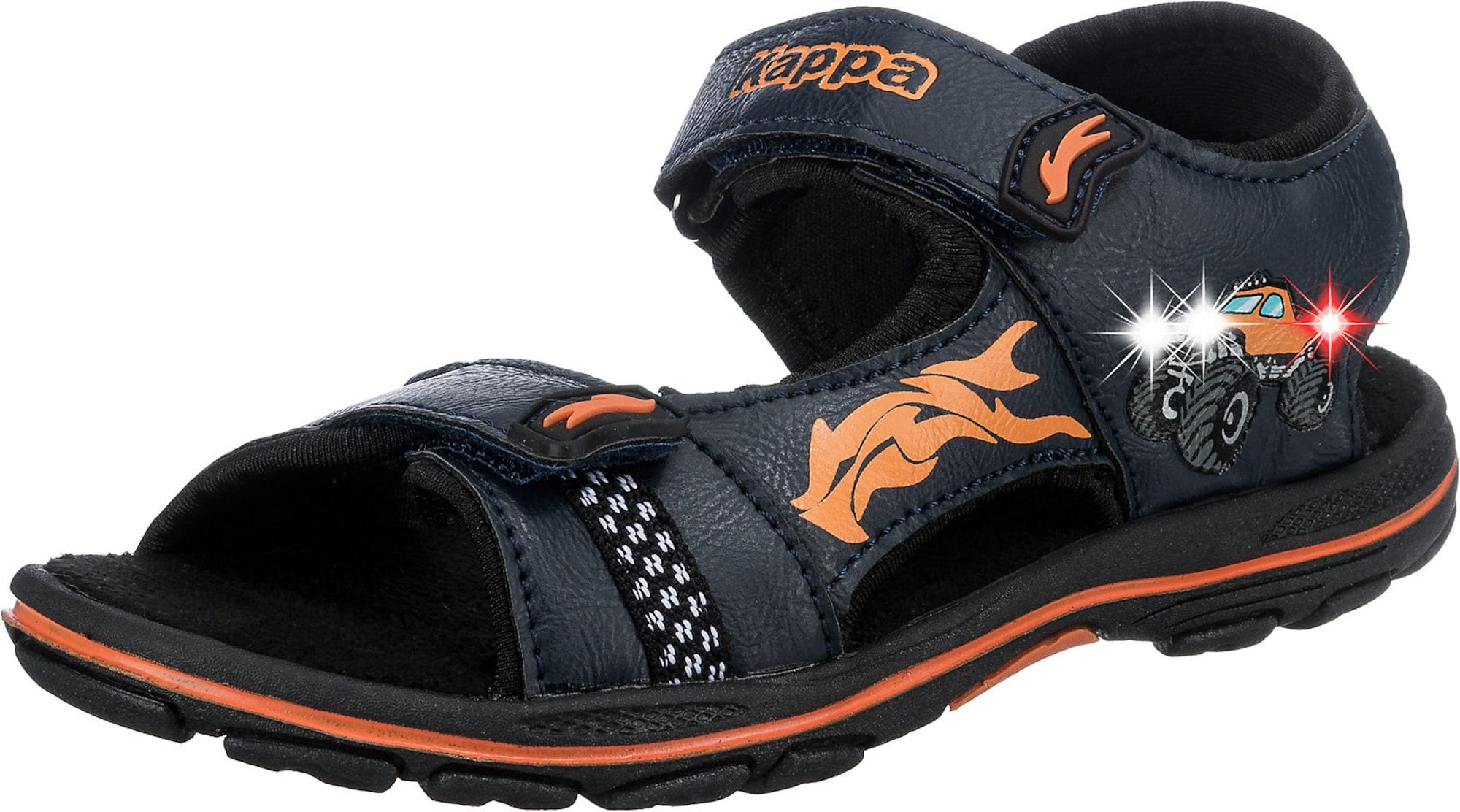 KAPPA Atviri batai ultramarino mėlyna (skaidri) / oranžinė / turkio spalva / balta