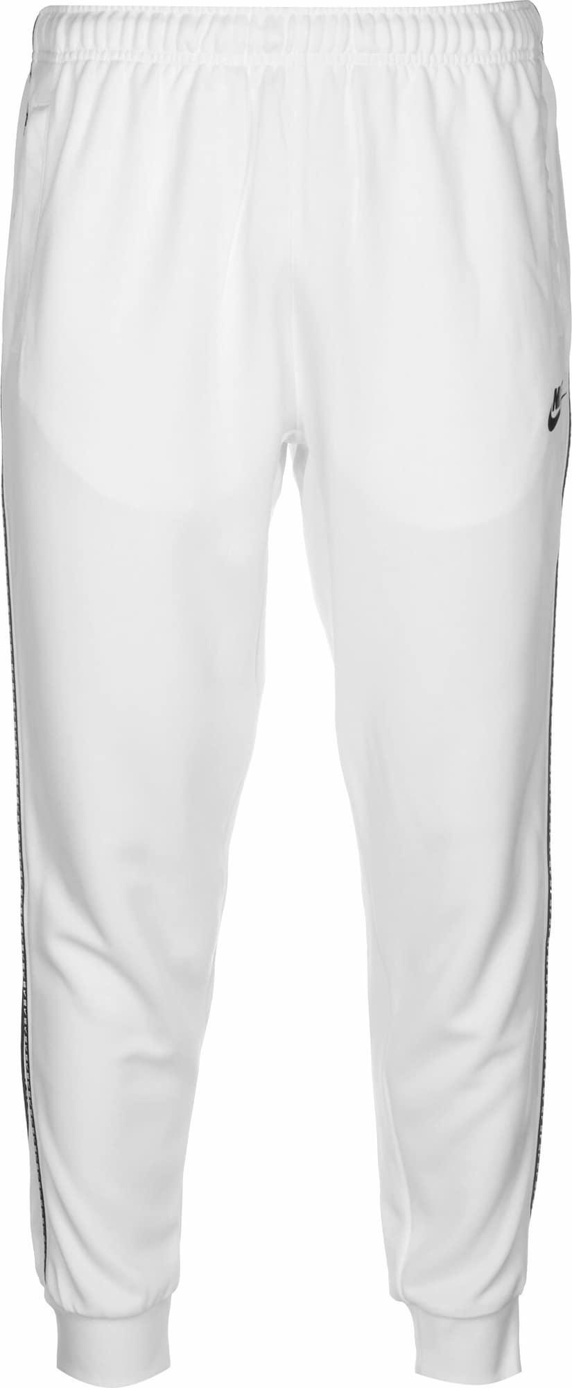 Nike Sportswear Sportovní kalhoty 'Repeat'  bílá / černá