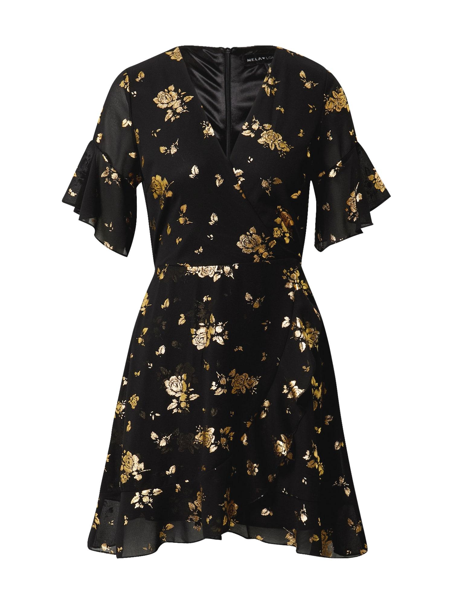 Mela London Suknelė juoda / auksas