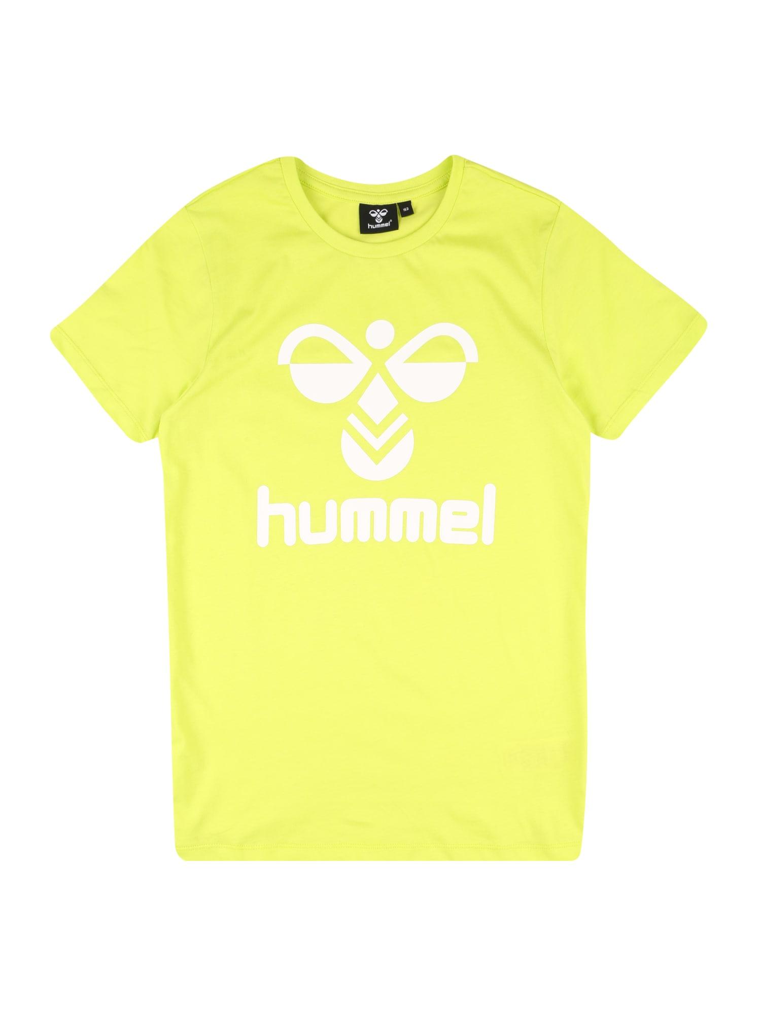 Hummel Tričko  bílá / kiwi