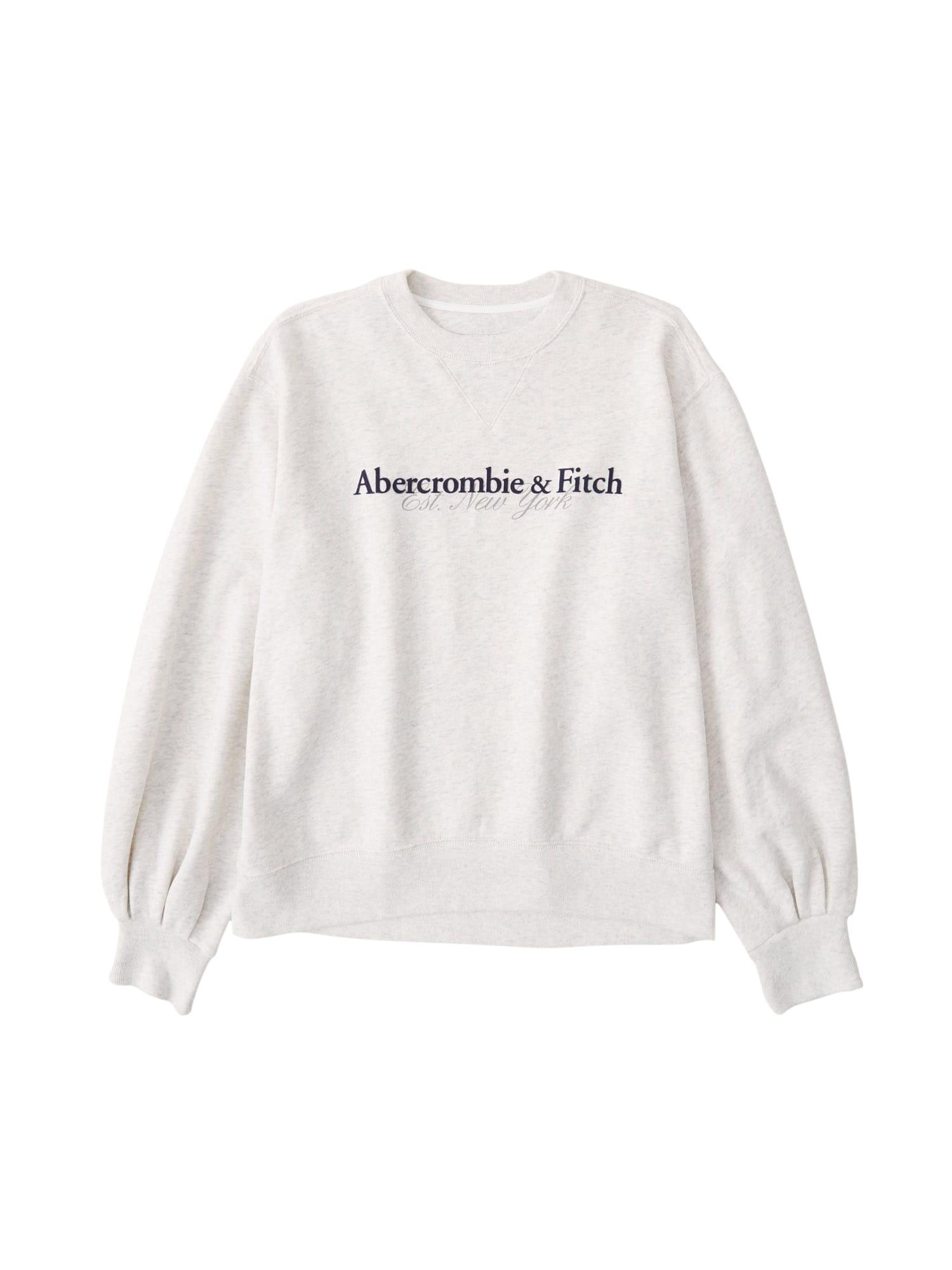 Abercrombie & Fitch Megztinis be užsegimo margai pilka / tamsiai mėlyna jūros spalva / akmens