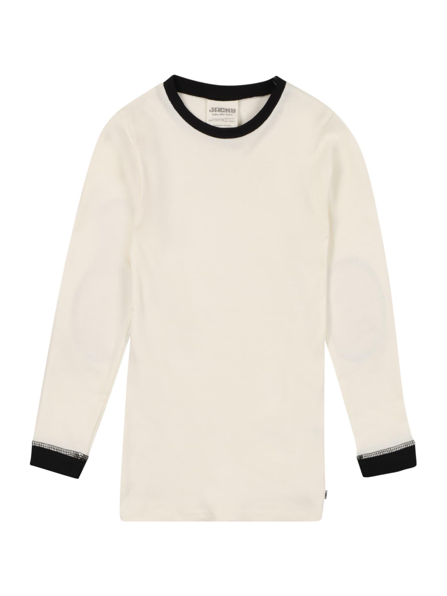 JACKY Apatiniai marškinėliai balta / juoda
