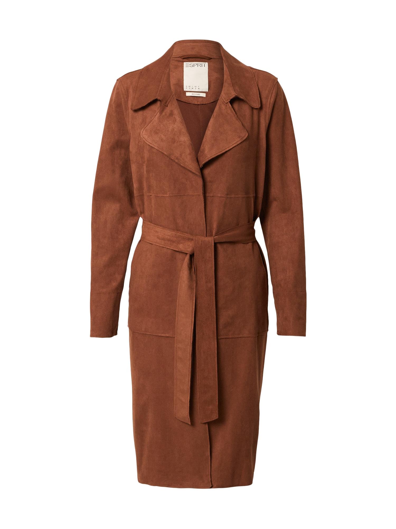 ESPRIT Demisezoninis paltas ruda
