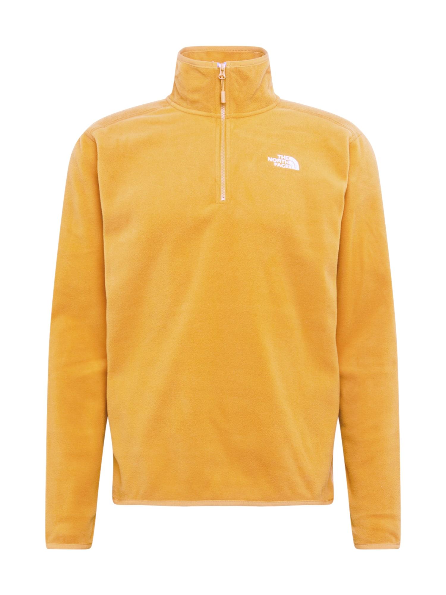 THE NORTH FACE Funkční tričko 'Glacier'  žlutá / bílá