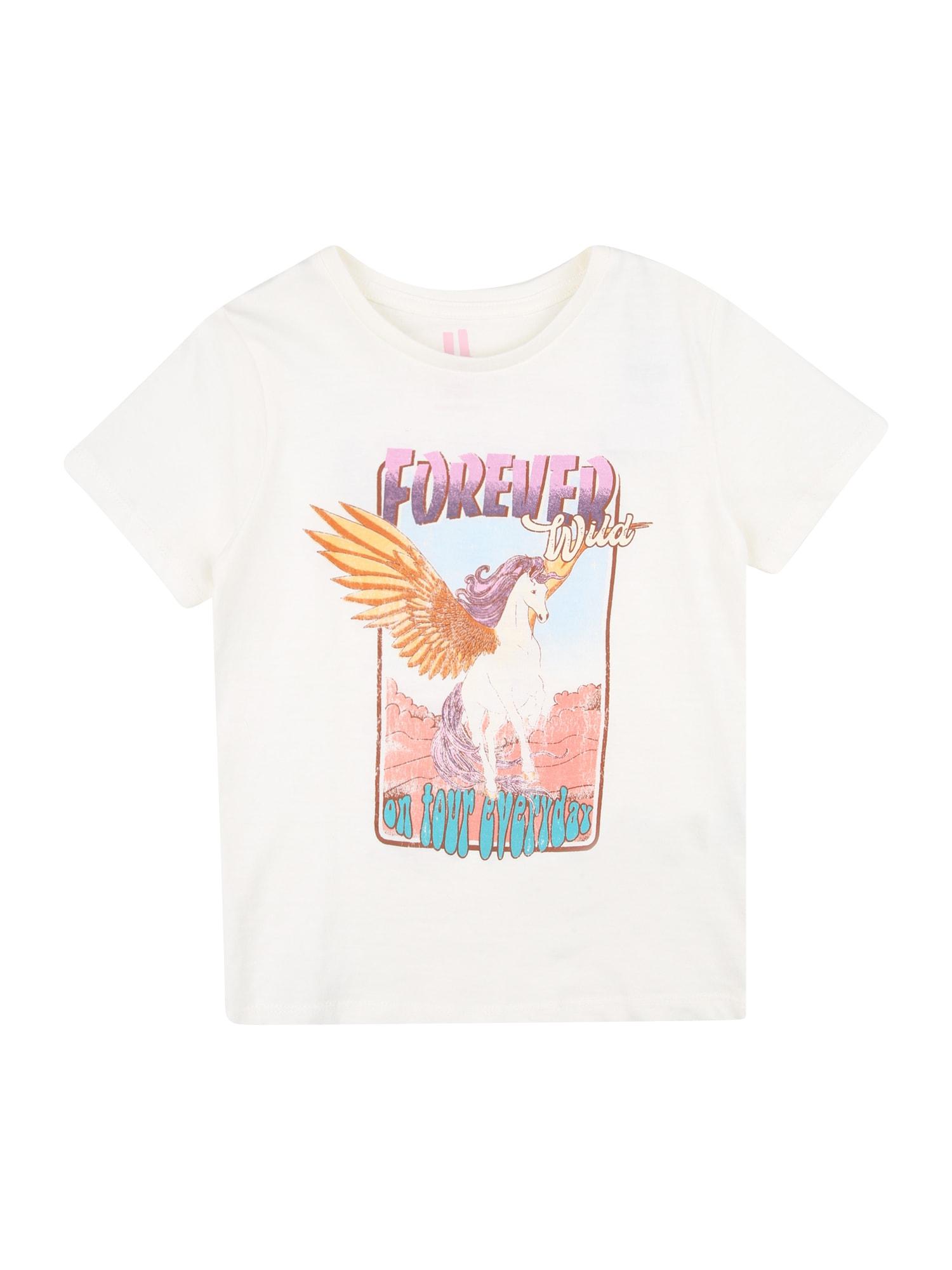 Cotton On Marškinėliai 'Penelope' kremo / šviesiai violetinė / tamsiai violetinė / turkio spalva / ryškiai rožinė spalva