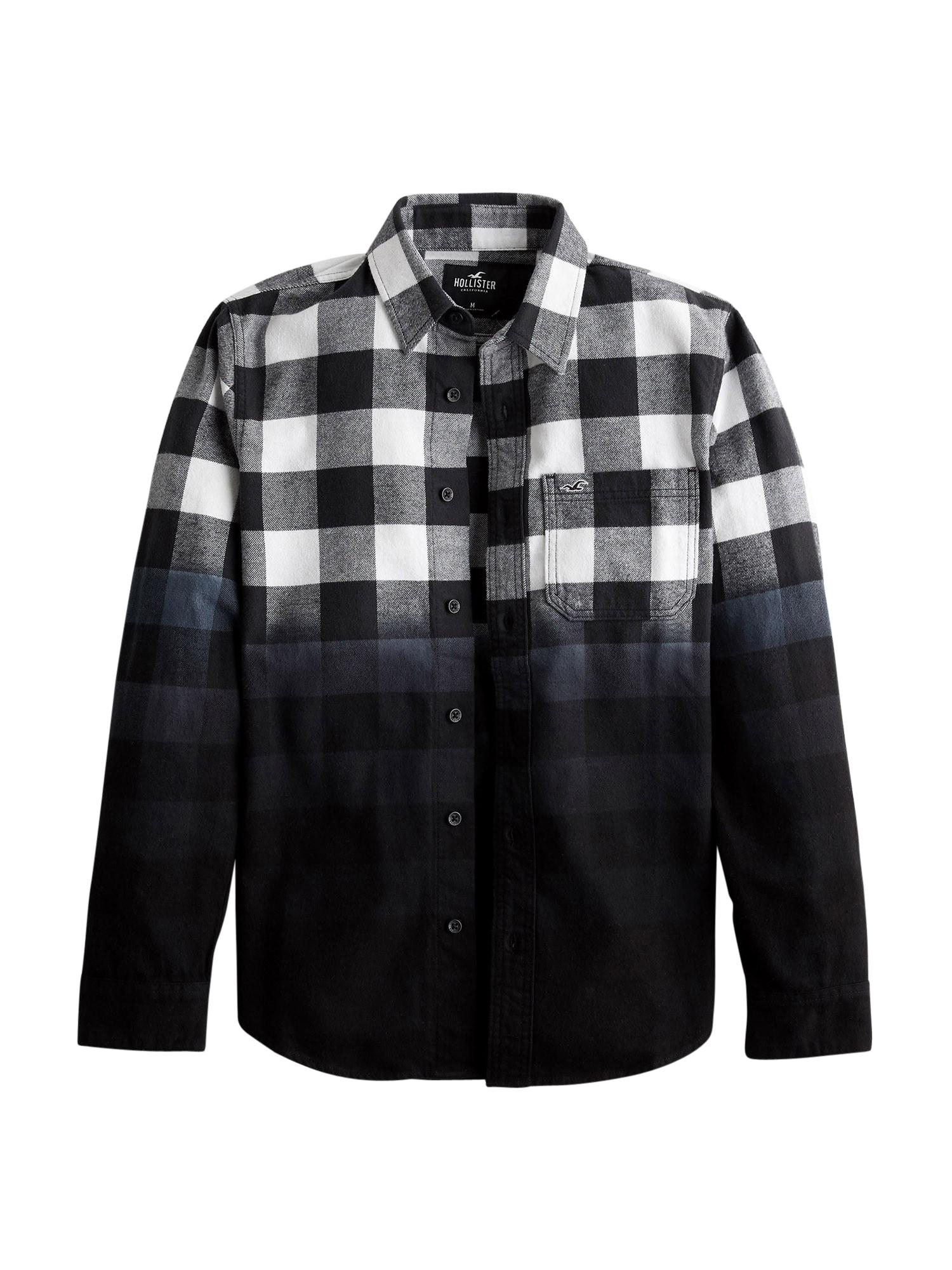 HOLLISTER Marškiniai balta / juoda