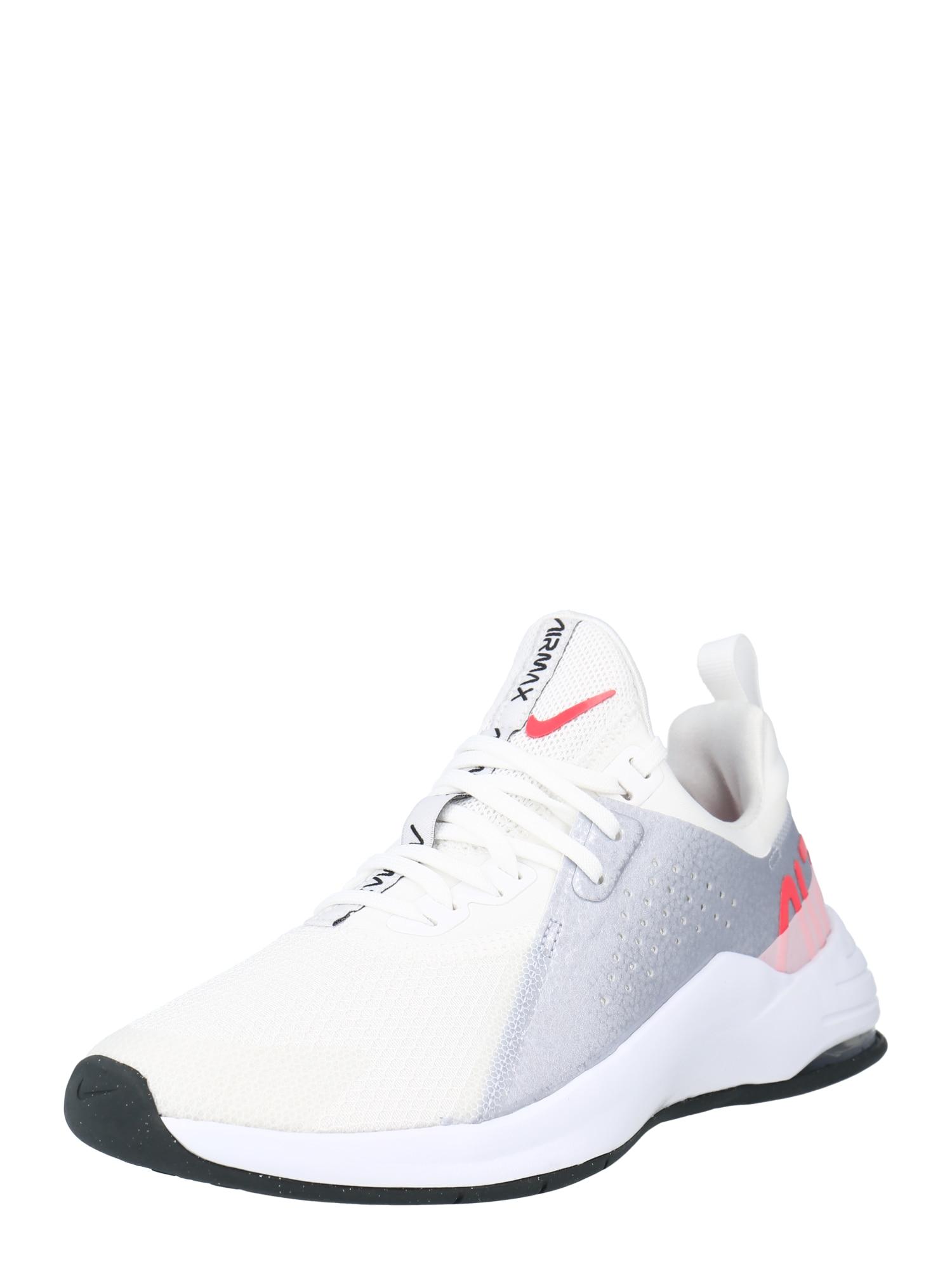 NIKE Bėgimo batai balta / rožinė / pilka
