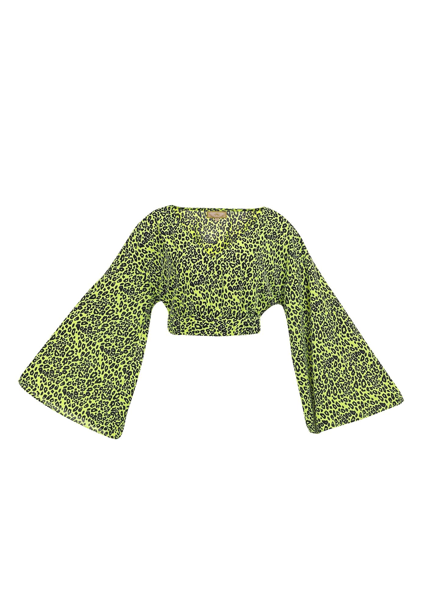 MYMO Palaidinė neoninė žalia / juoda