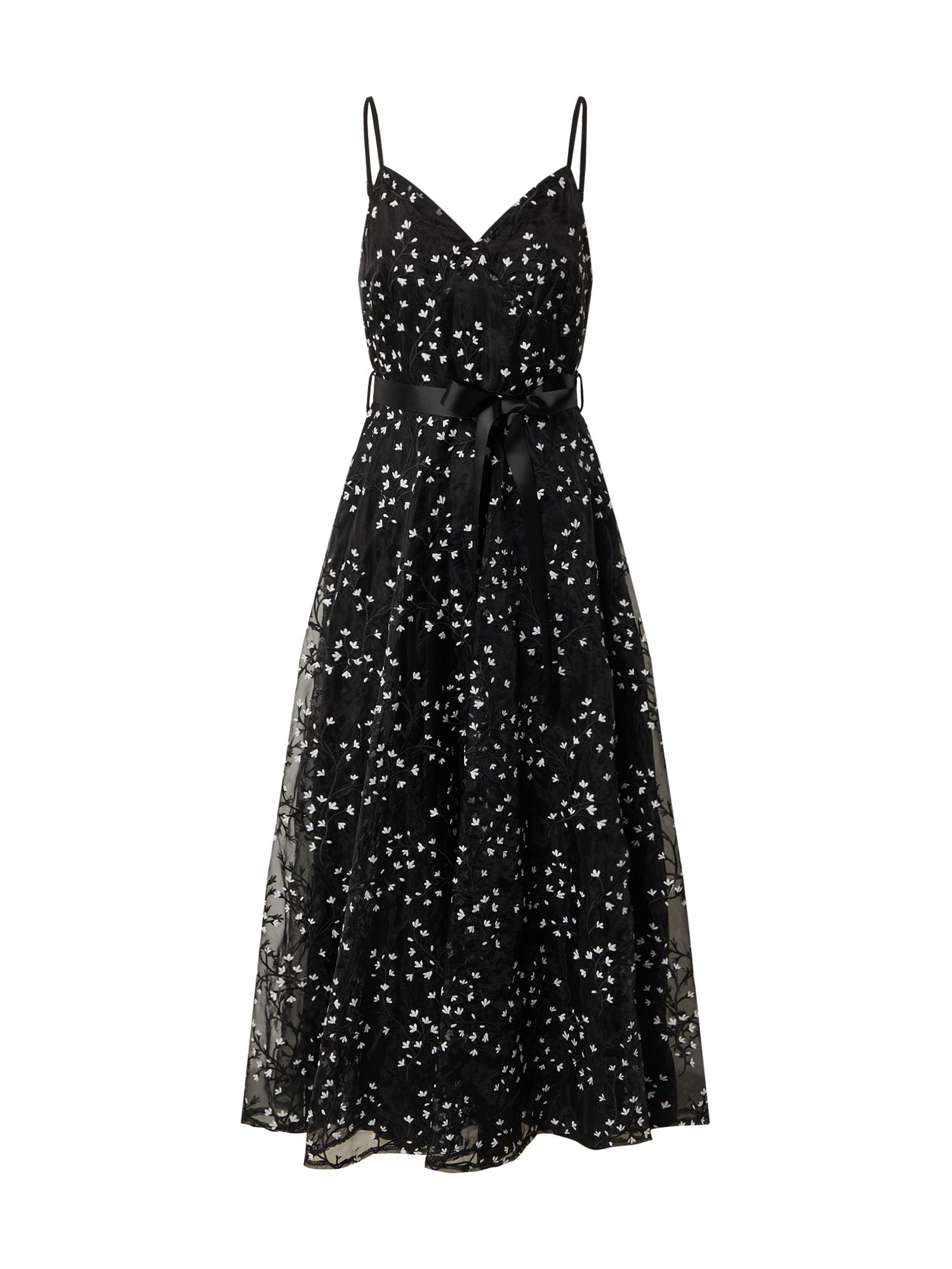 Forever Unique Vakarinė suknelė juoda / balta