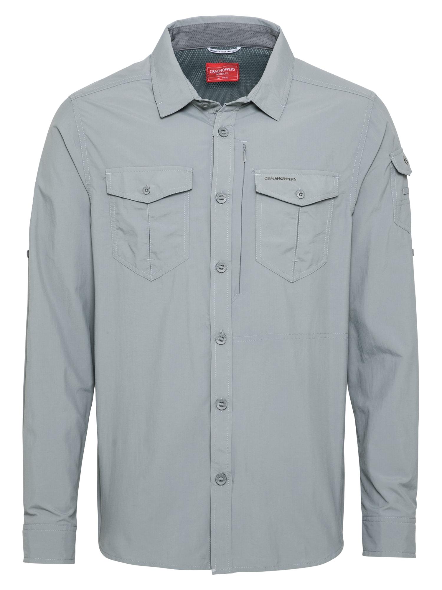 CRAGHOPPERS Funkciniai marškiniai šviesiai pilka