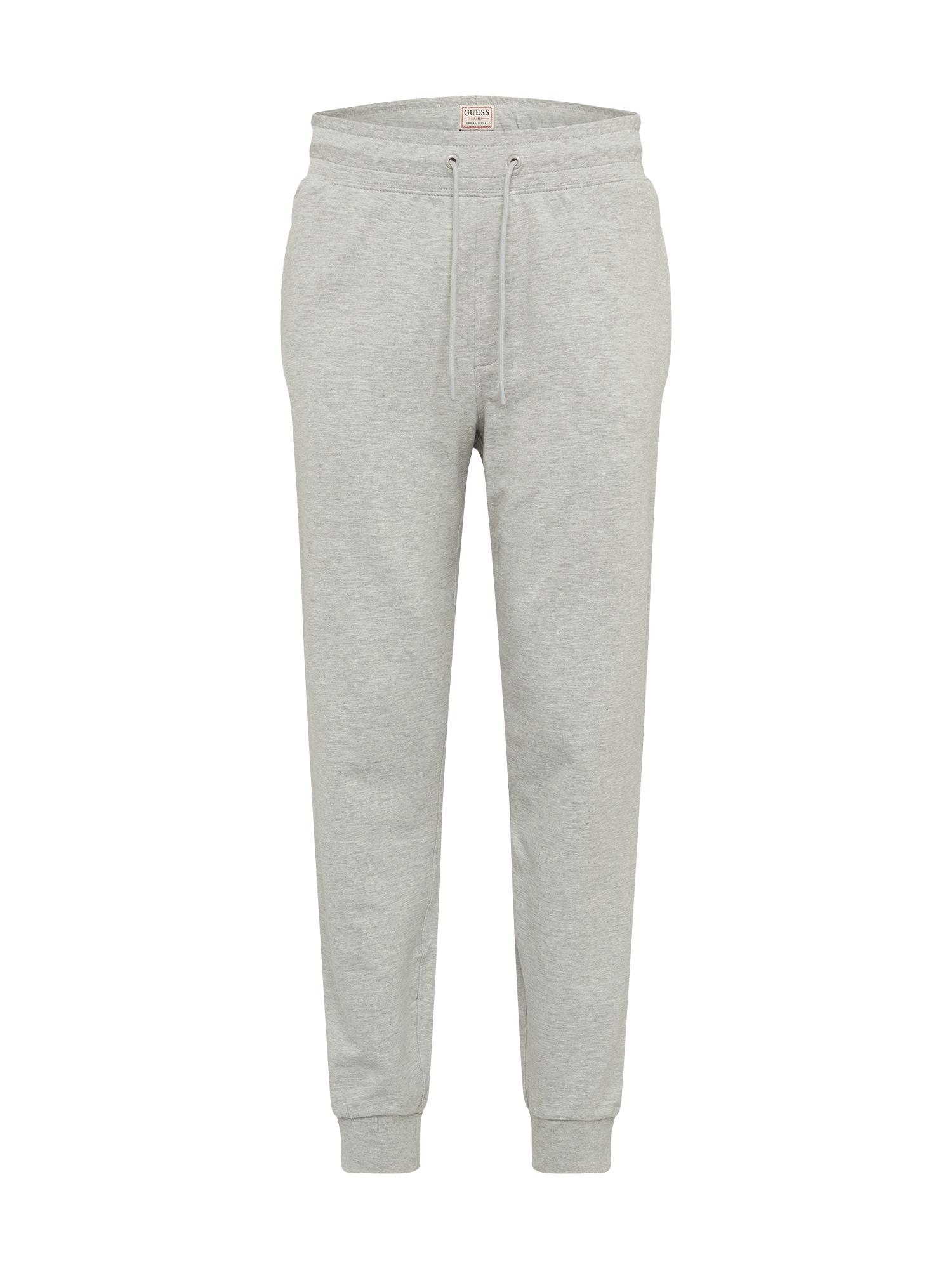GUESS Kelnės 'ADAM' margai pilka / balta / melionų spalva / juoda