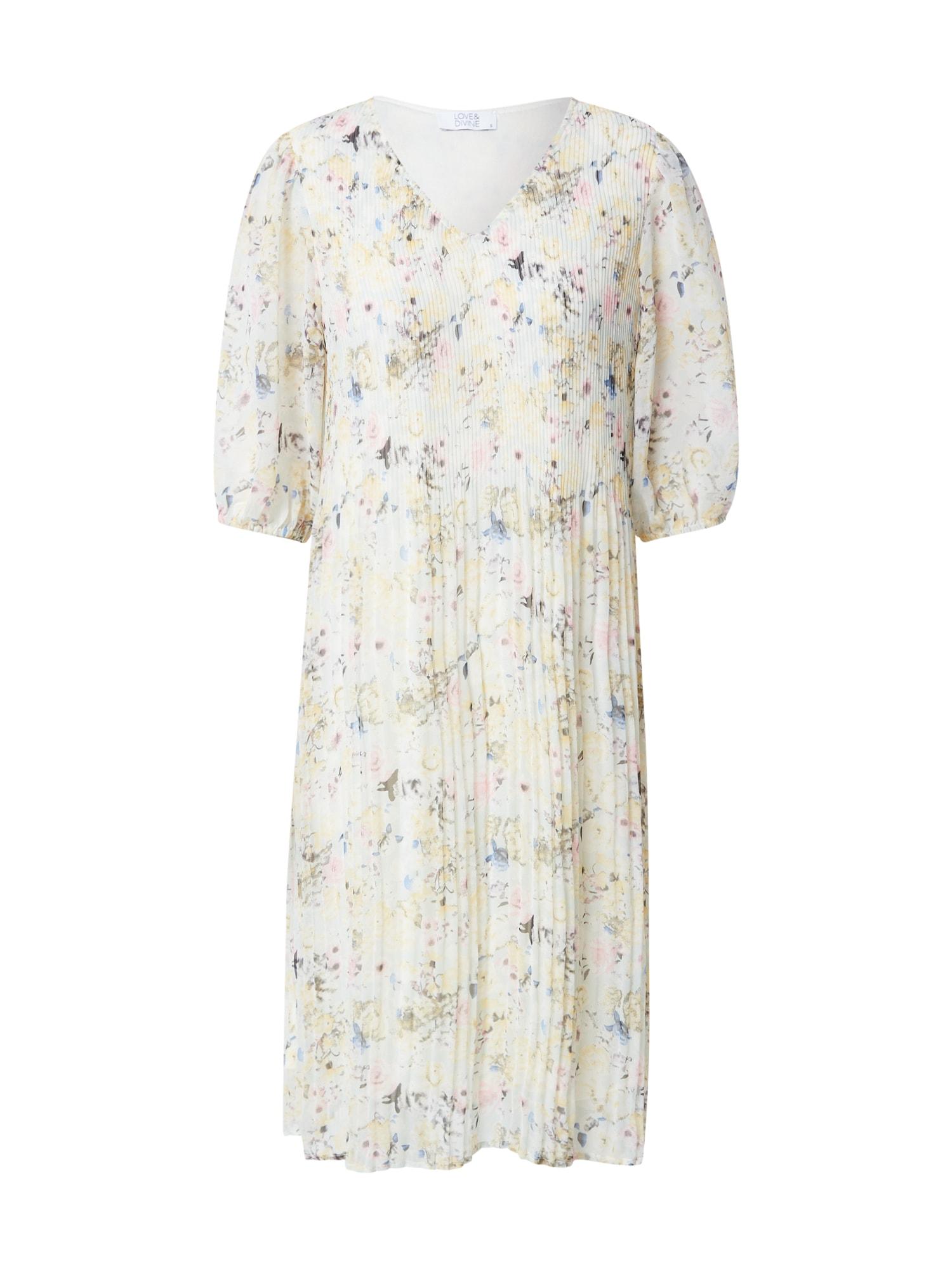 """Love & Divine Suknelė balta / pastelinė geltona / pastelinė rožinė / antracito spalva / sodri mėlyna (""""karališka"""")"""