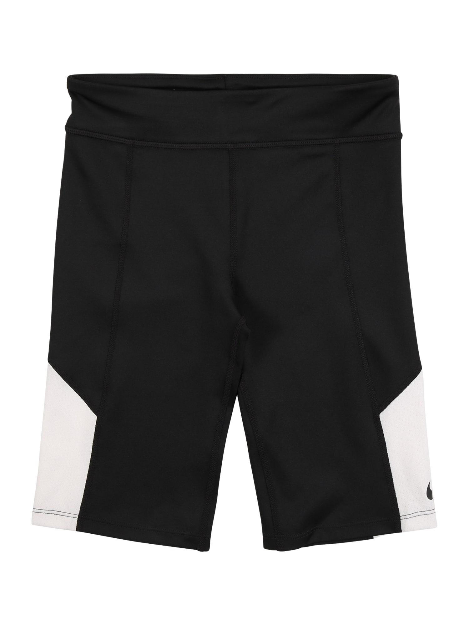 NIKE Sportovní kalhoty 'Trophy'  bílá / černá