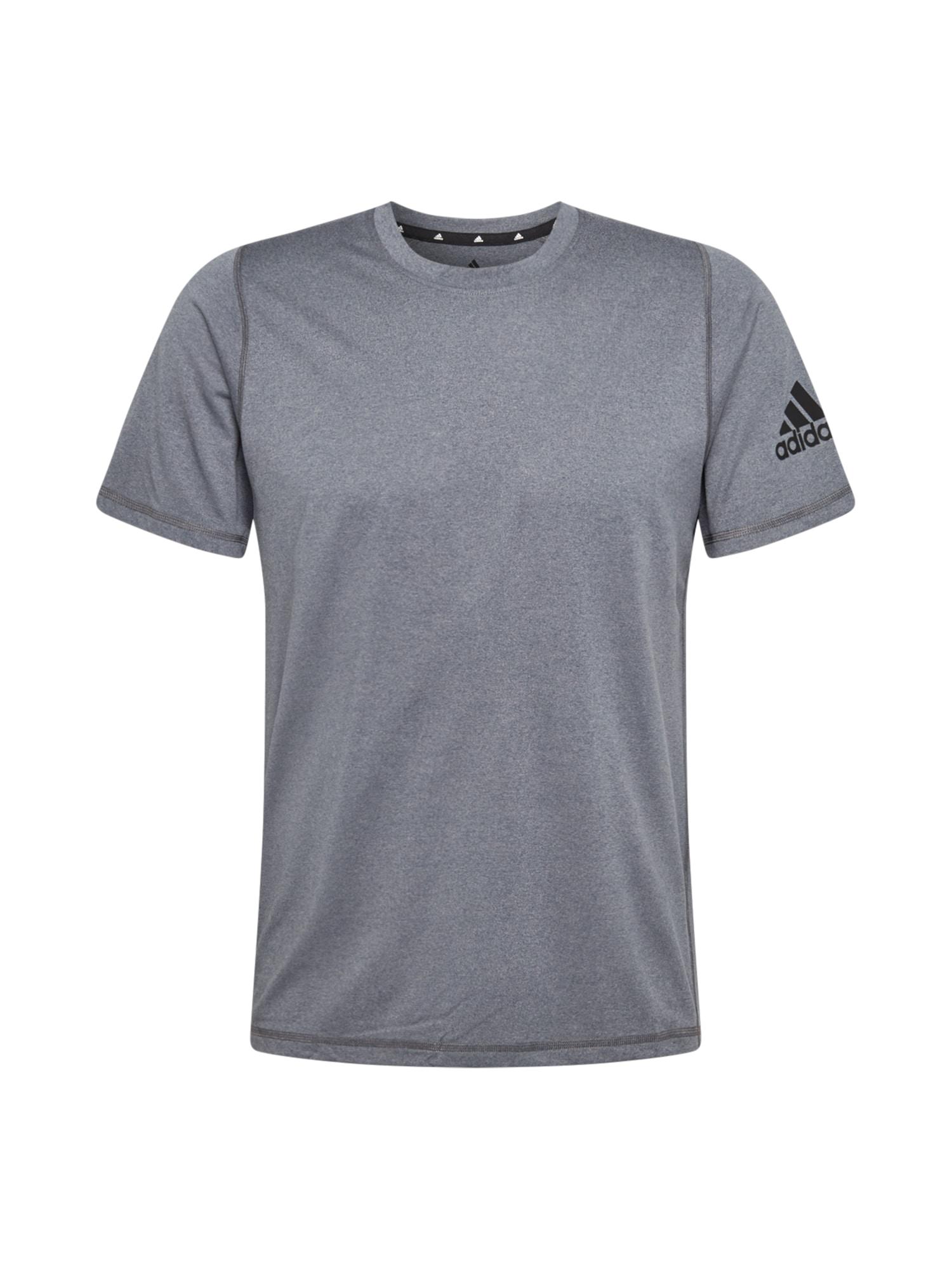 ADIDAS PERFORMANCE Funkční tričko  kouřově modrá / čedičová šedá
