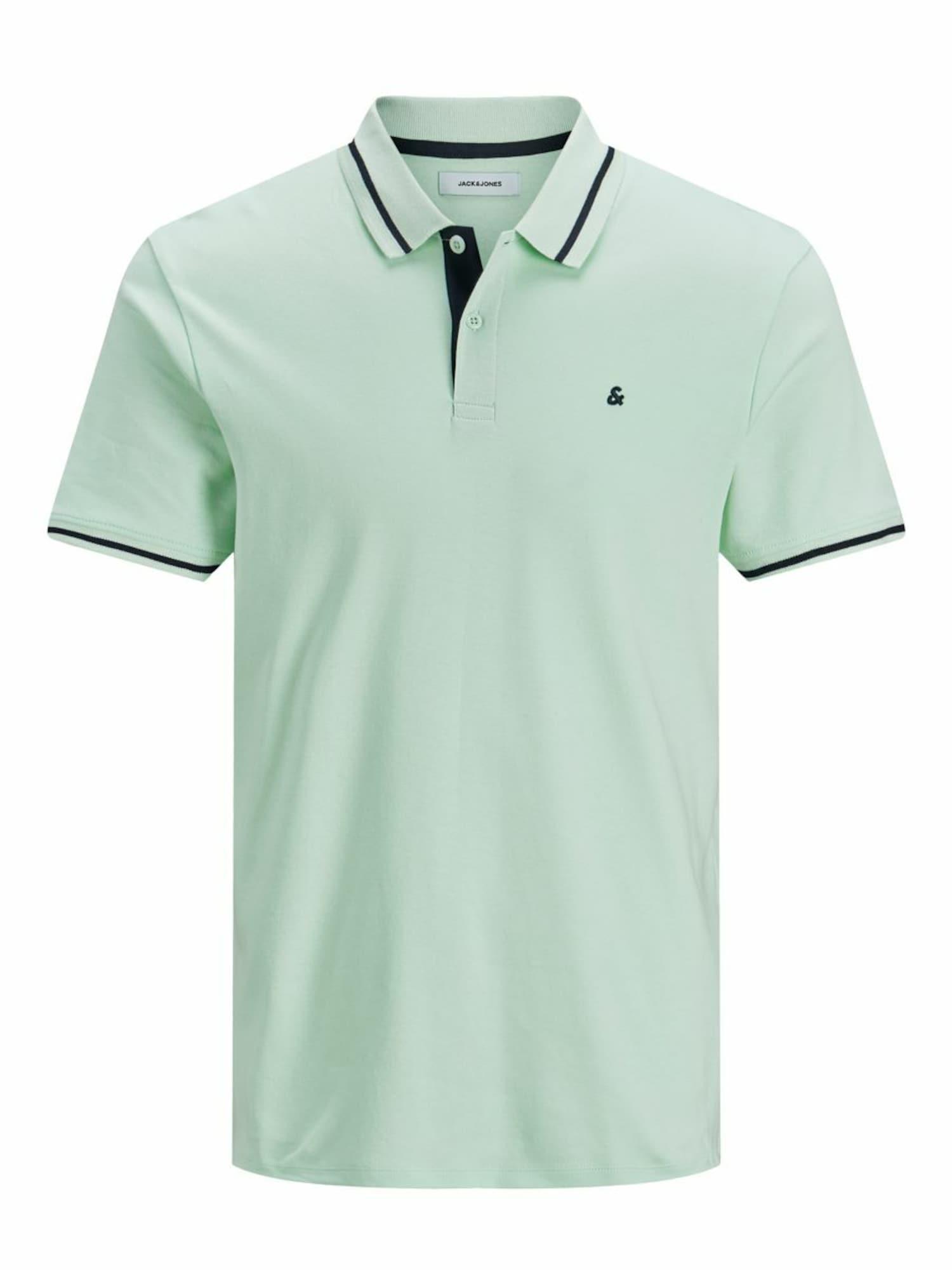 JACK & JONES Marškinėliai mėtų spalva / benzino spalva