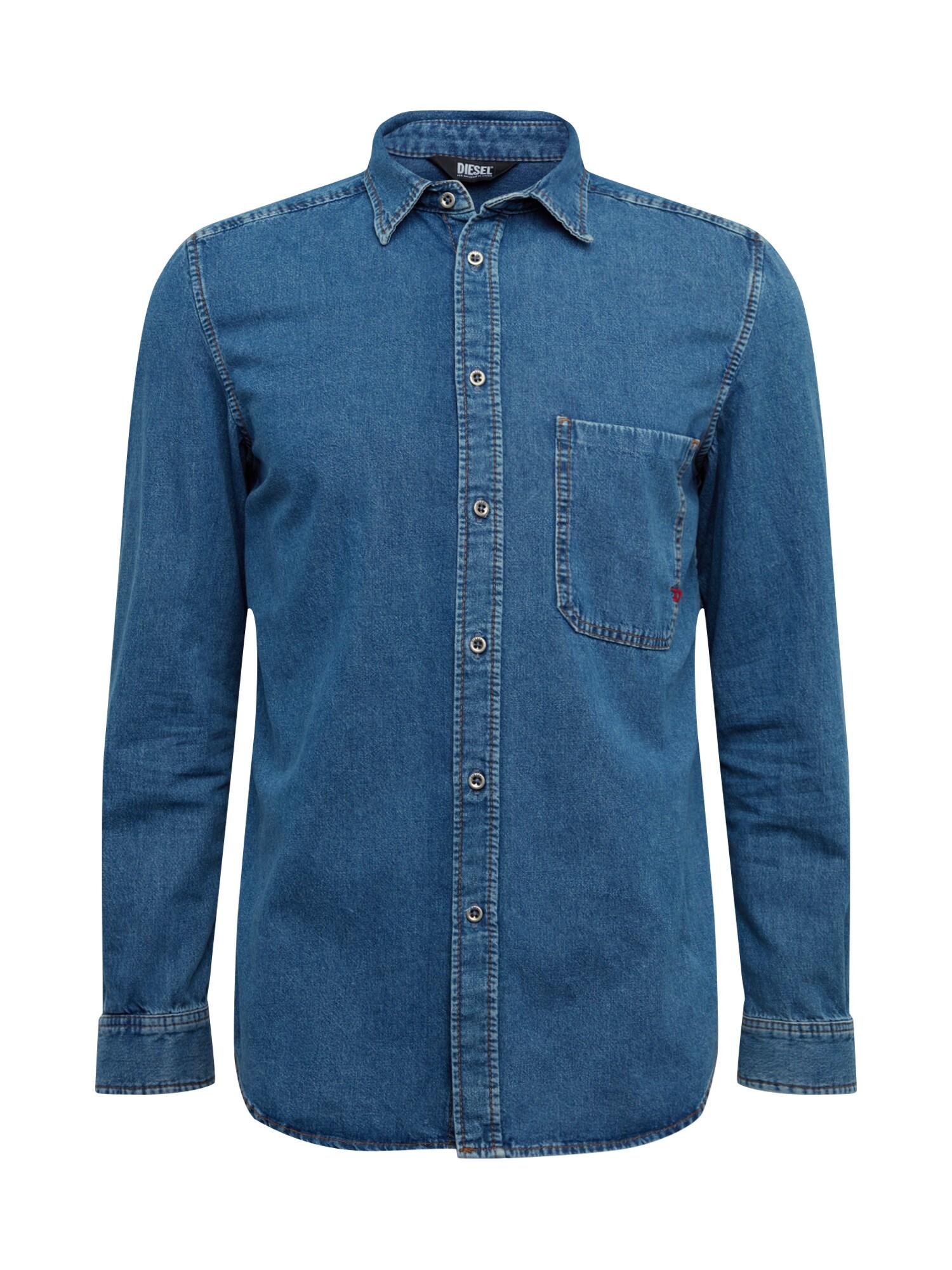 DIESEL Marškiniai tamsiai (džinso) mėlyna