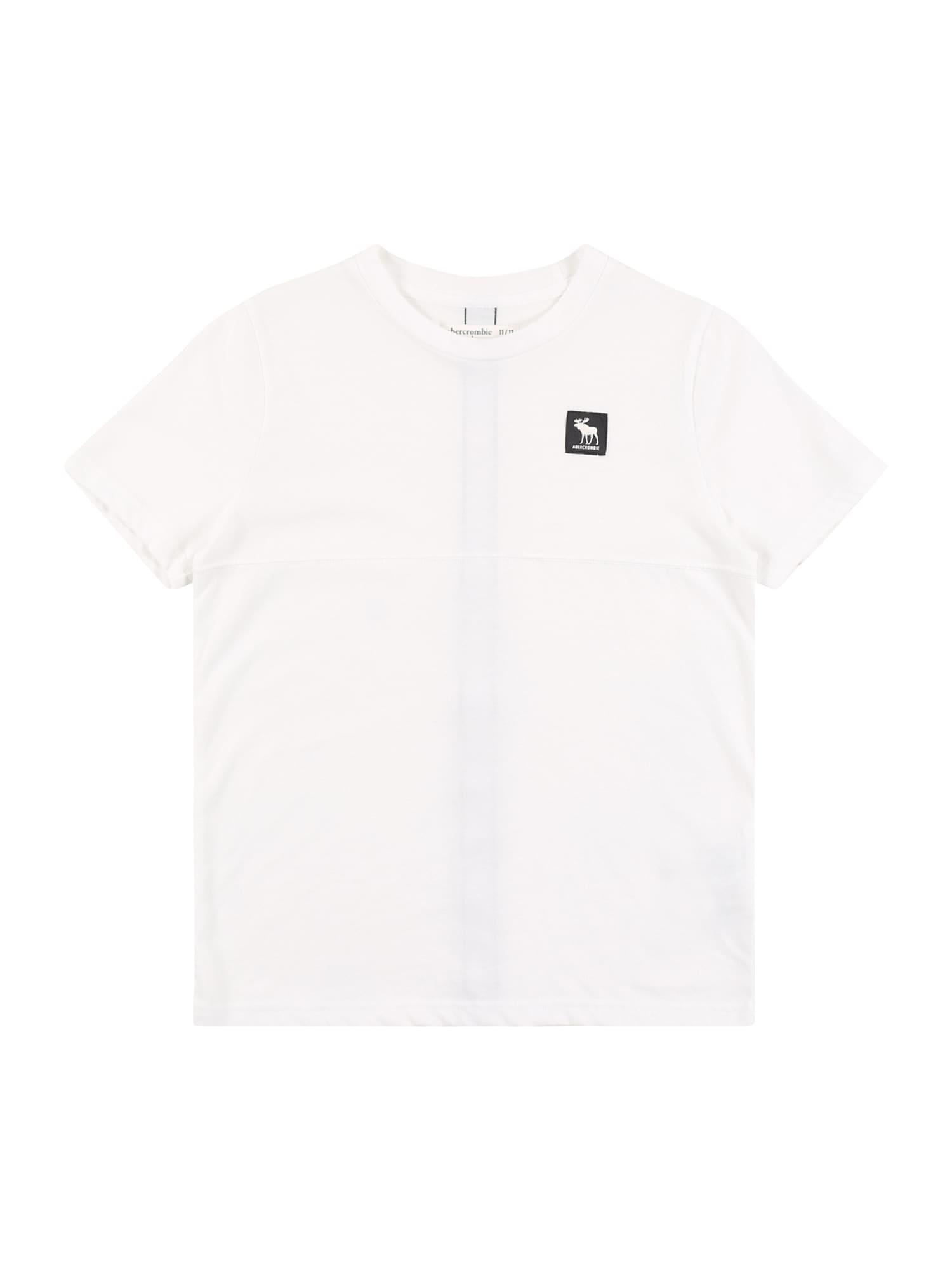 Abercrombie & Fitch Marškinėliai balta / juoda / nefrito spalva / neoninė žalia