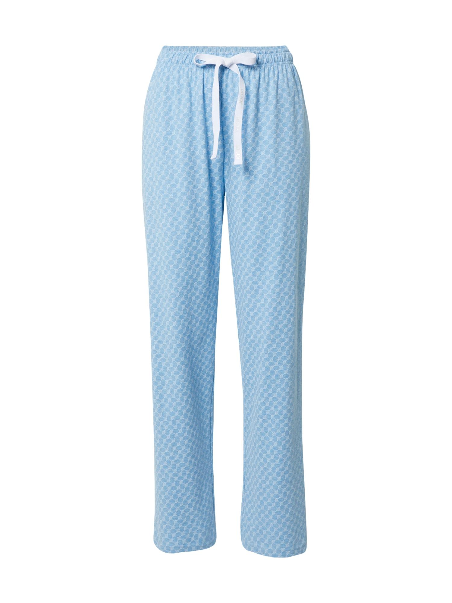 JOOP! Bodywear Pižaminės kelnės šviesiai mėlyna / balta