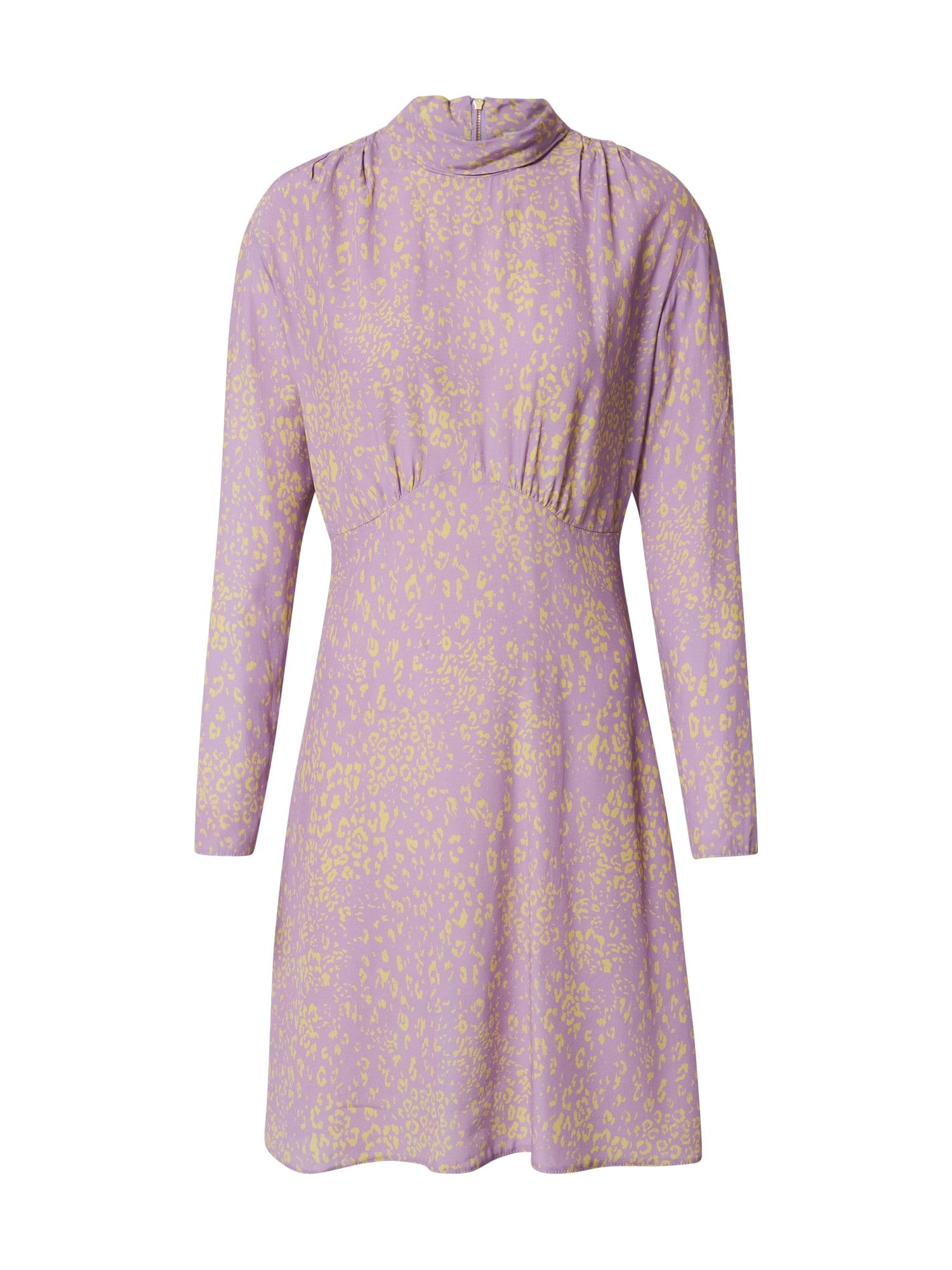 Closet London Suknelė šviesiai violetinė / geltona