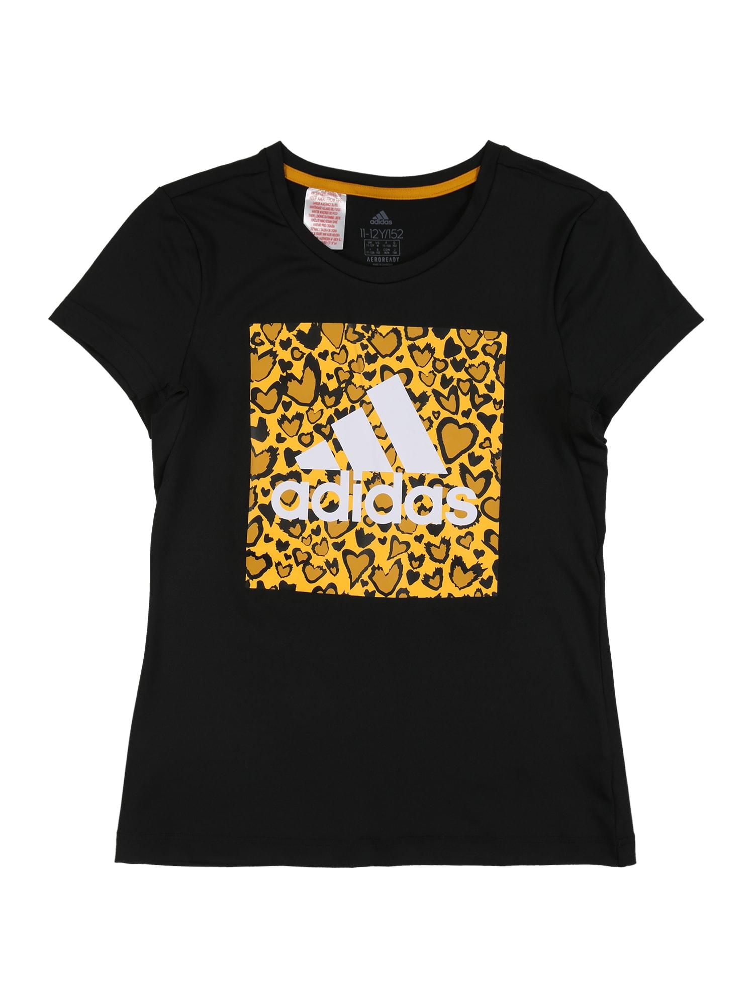 ADIDAS PERFORMANCE Sportiniai marškinėliai geltona / balta / juoda