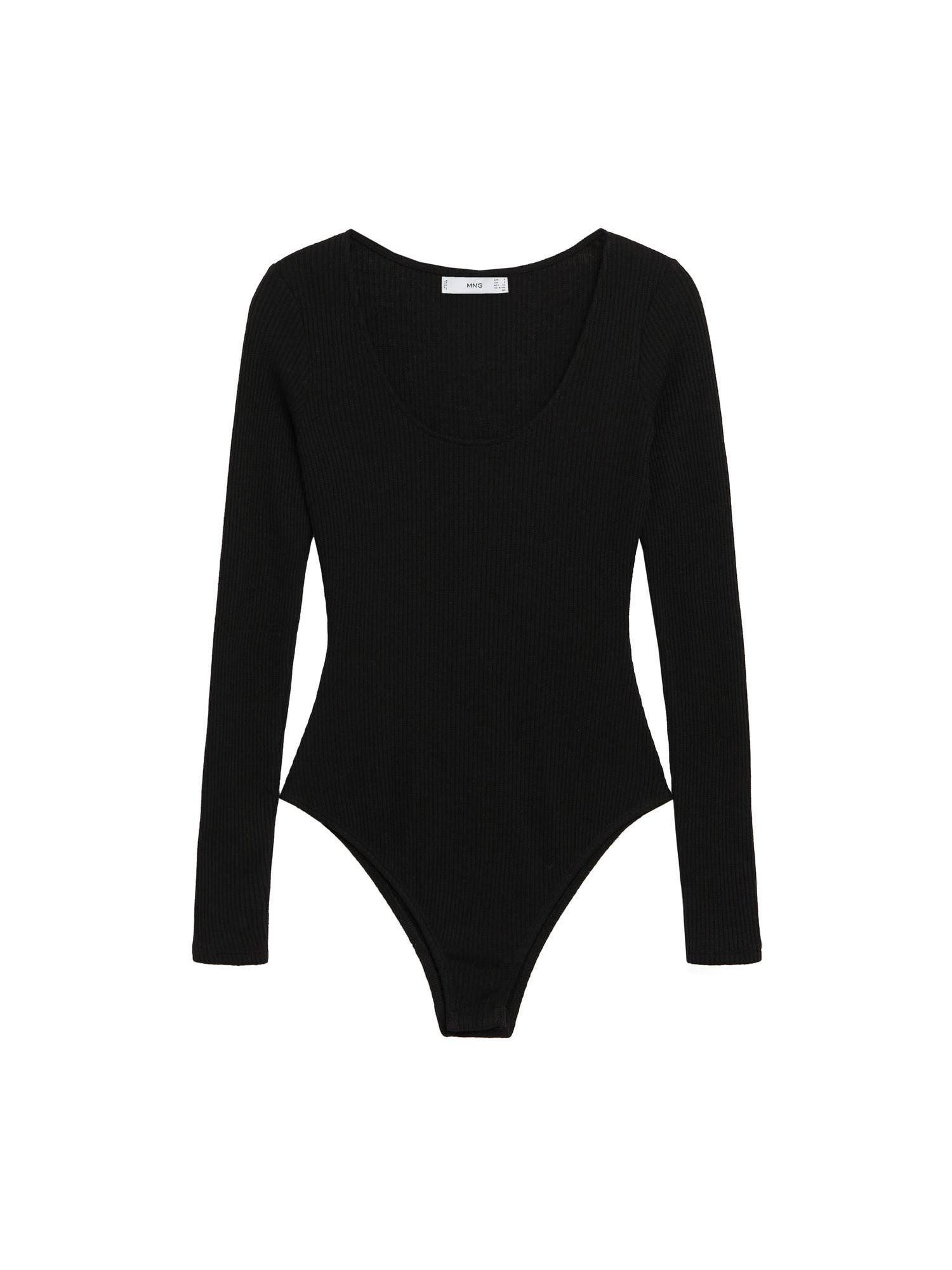 MANGO Tričkové body 'Joana'  černá