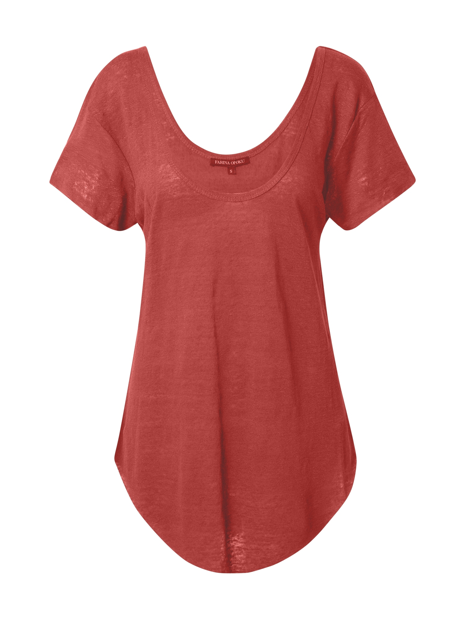 Farina Opoku Tričko 'Amber'  červená
