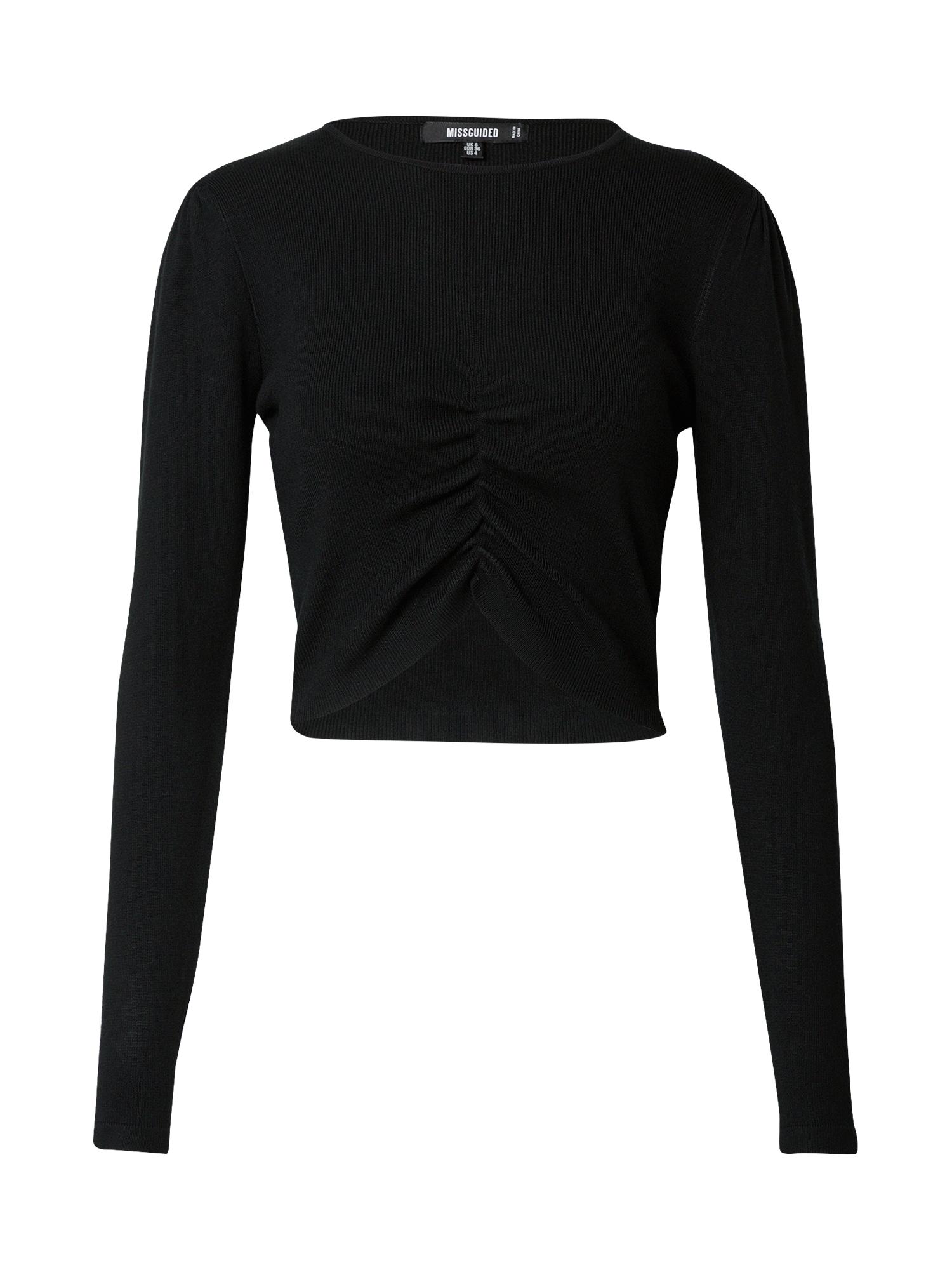 Missguided Tričko  černá