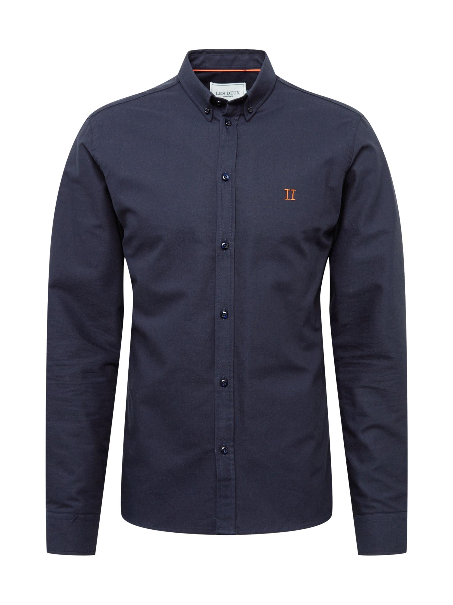 Les Deux Marškiniai tamsiai mėlyna / oranžinė