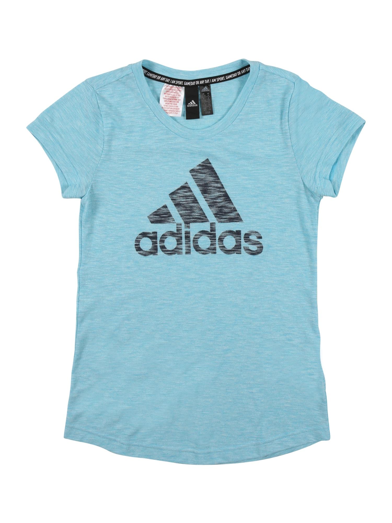 ADIDAS PERFORMANCE Sportiniai marškinėliai turkio spalva / juoda