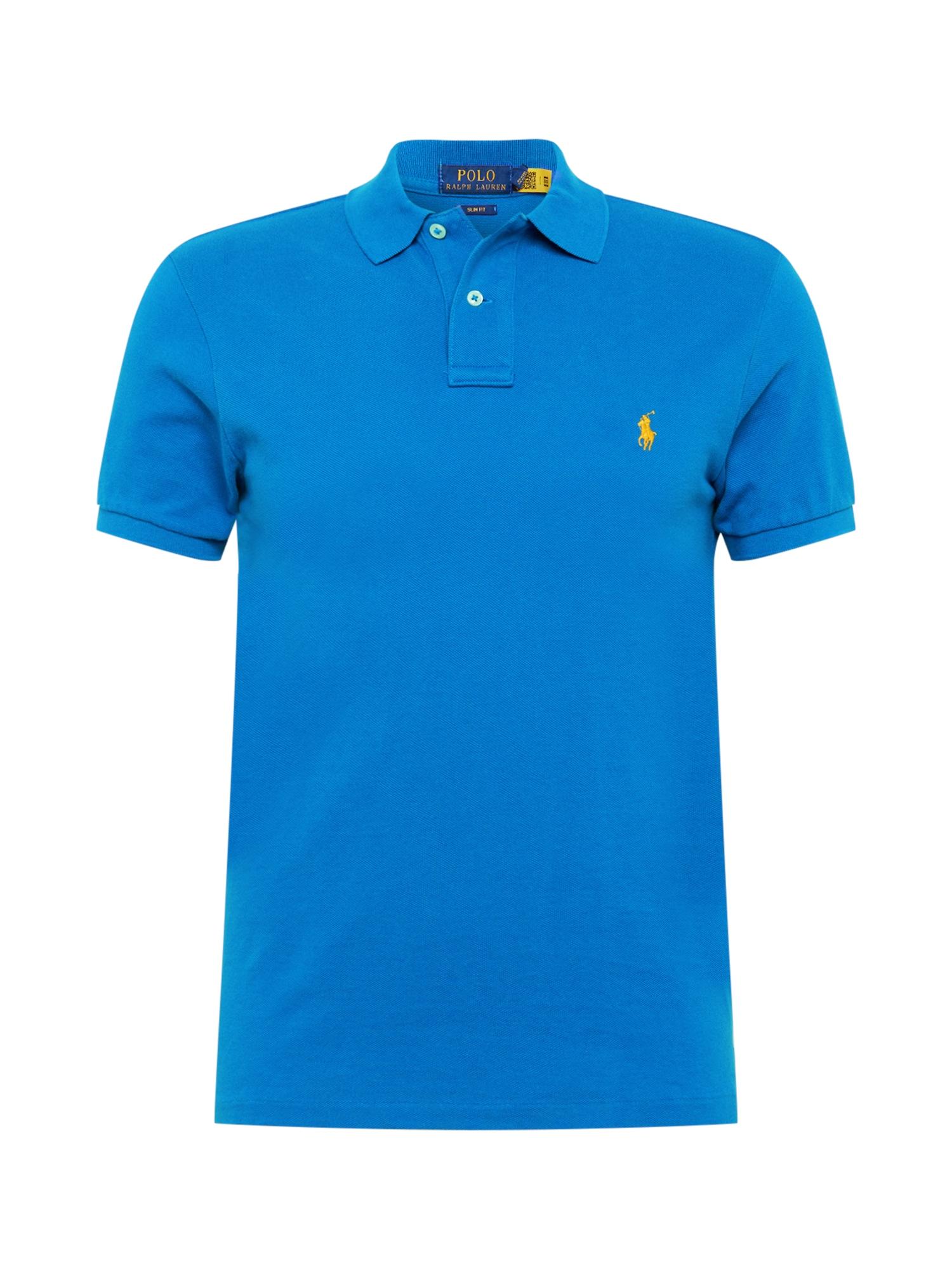 POLO RALPH LAUREN Marškinėliai mėlyna / geltona