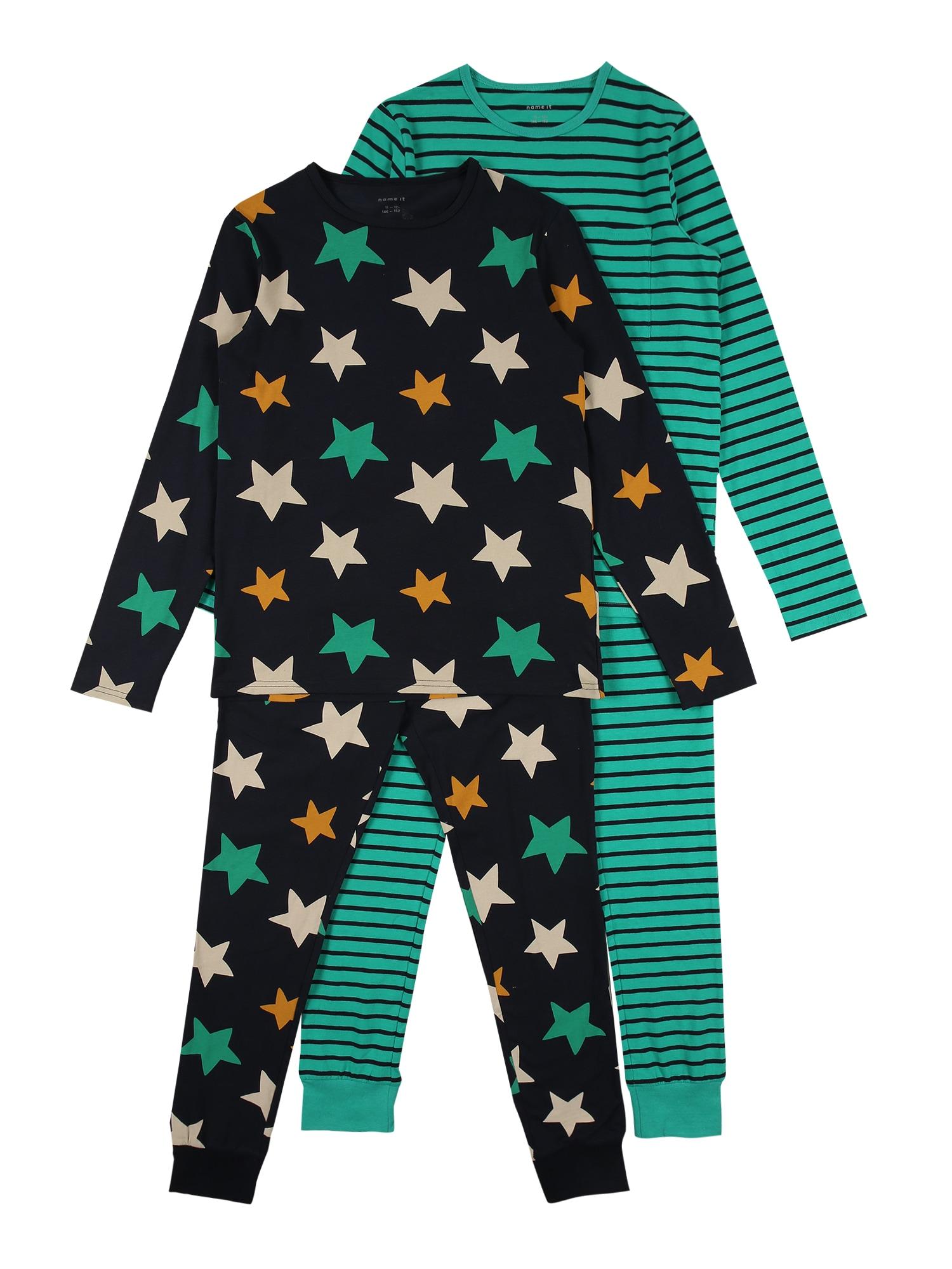NAME IT Miego kostiumas tamsiai mėlyna / nefrito spalva / mišrios spalvos
