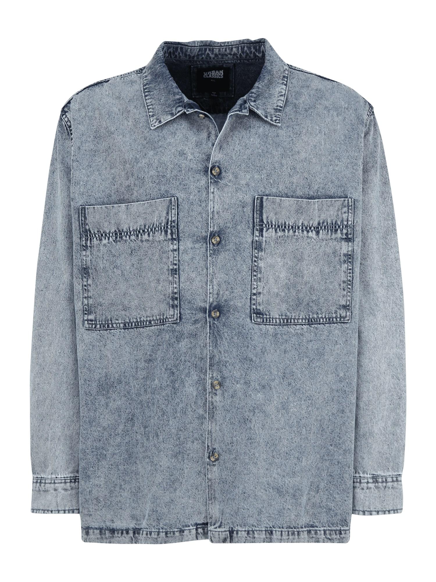 Urban Classics Plus Size Marškiniai tamsiai (džinso) mėlyna