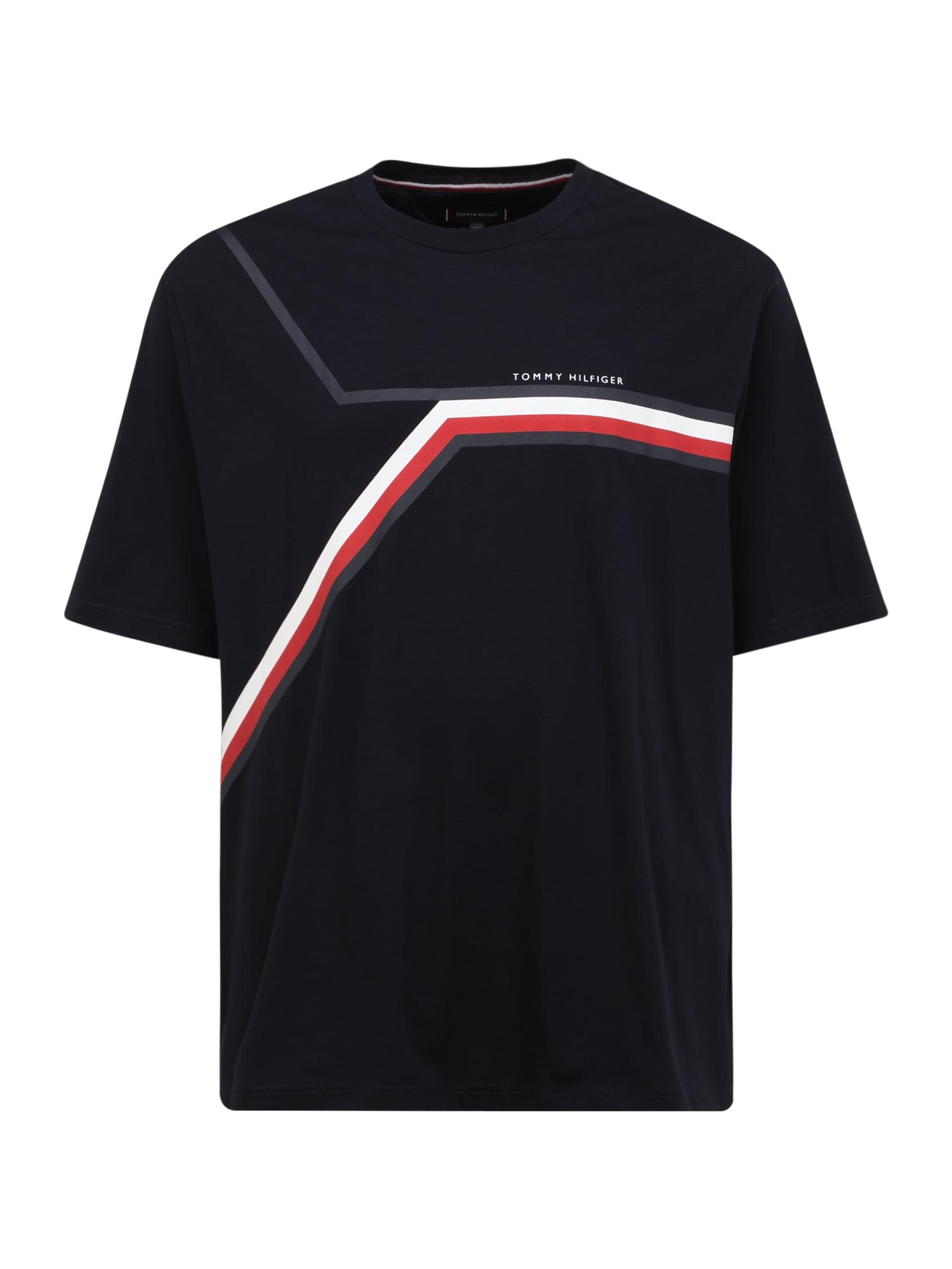 Tommy Hilfiger Big & Tall Marškinėliai nakties mėlyna / balta / raudona