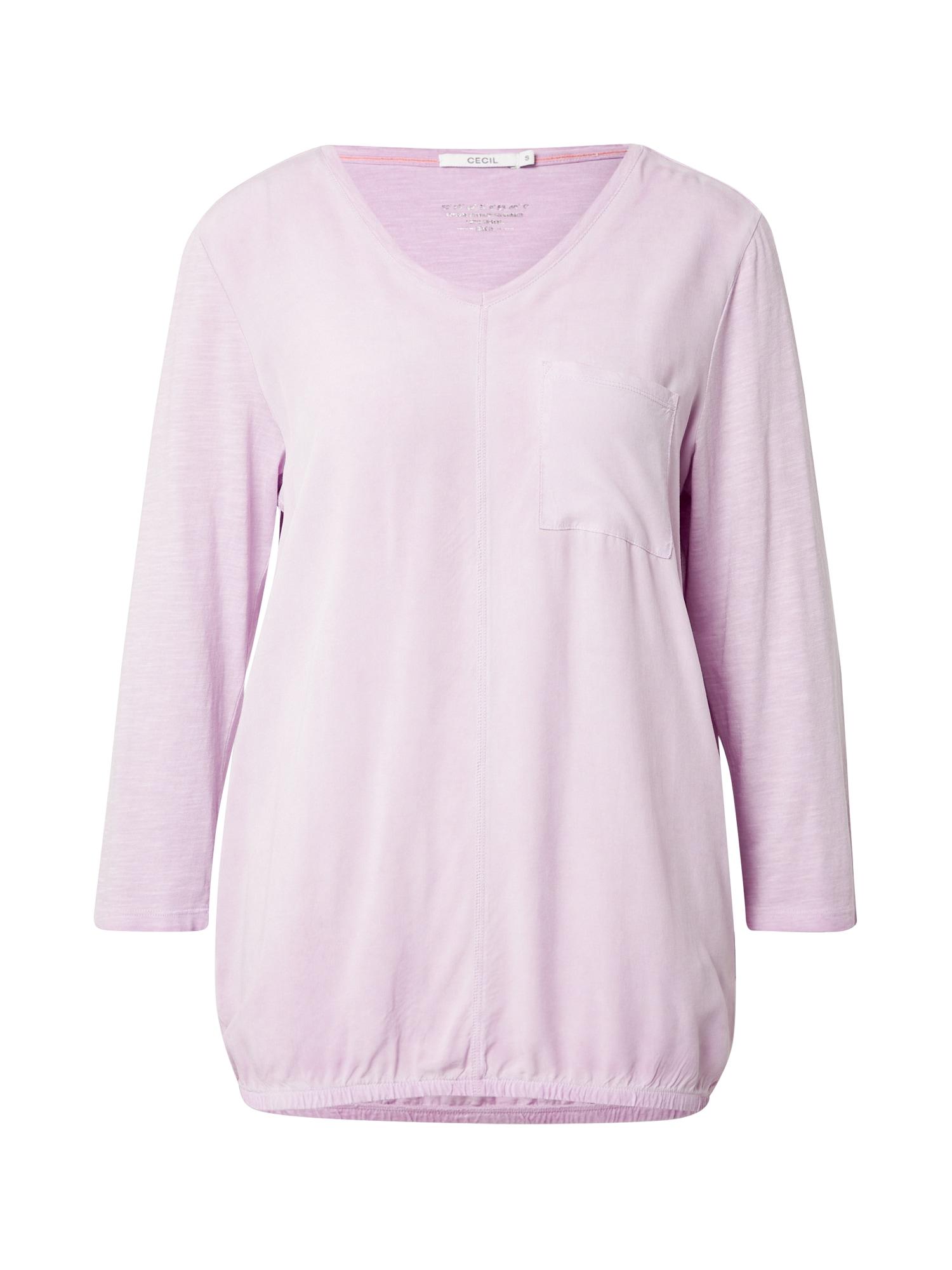 CECIL Marškinėliai levandų spalva