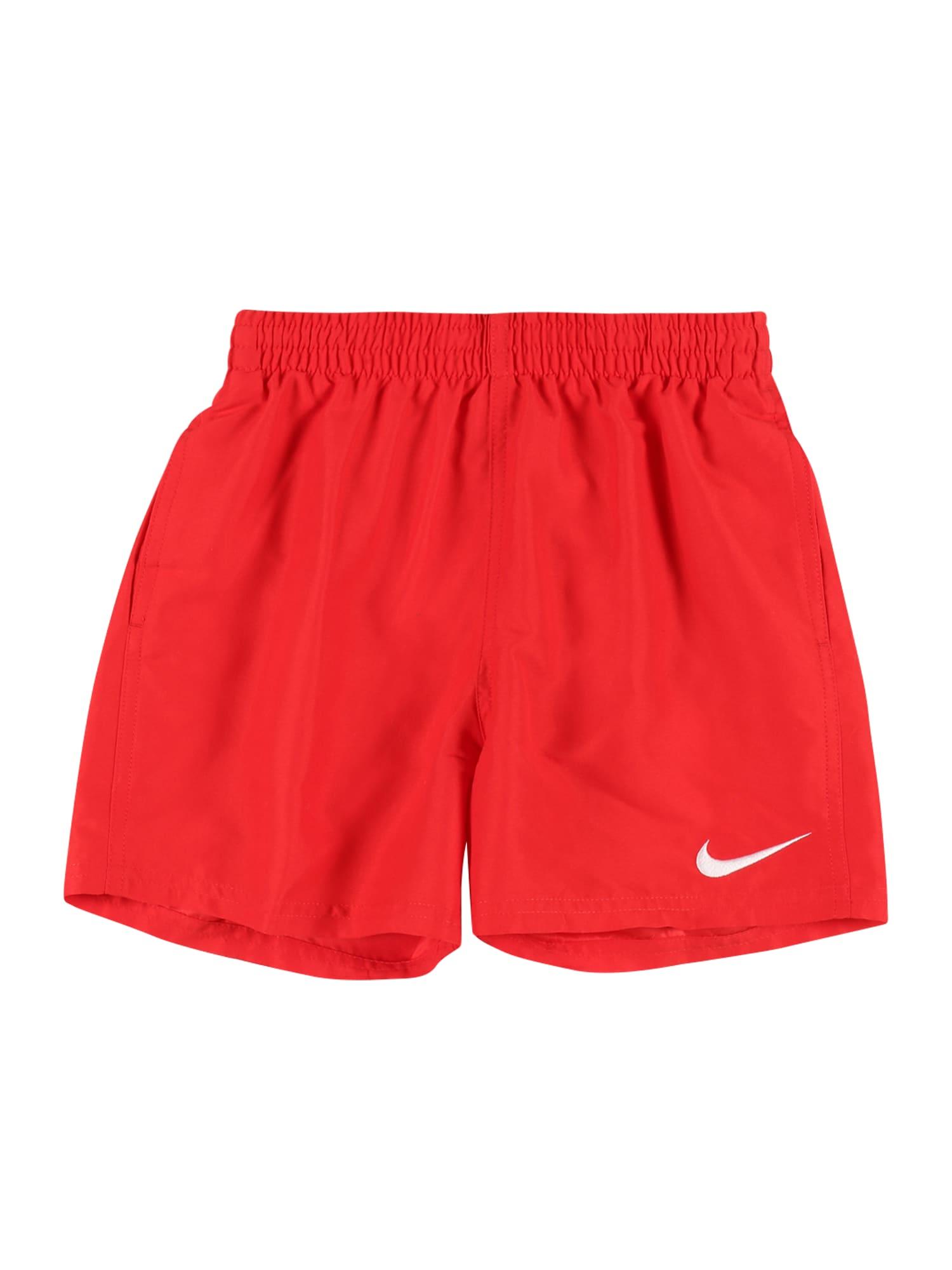 Nike Swim Sportinis maudymosi kostiumėlis šviesiai raudona / balta