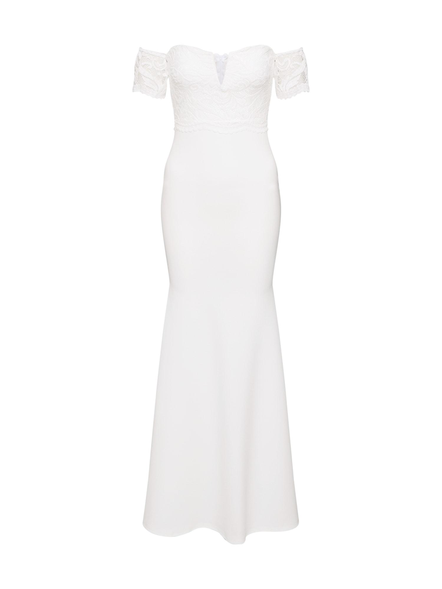 Missguided Vakarinė suknelė balta / smėlio