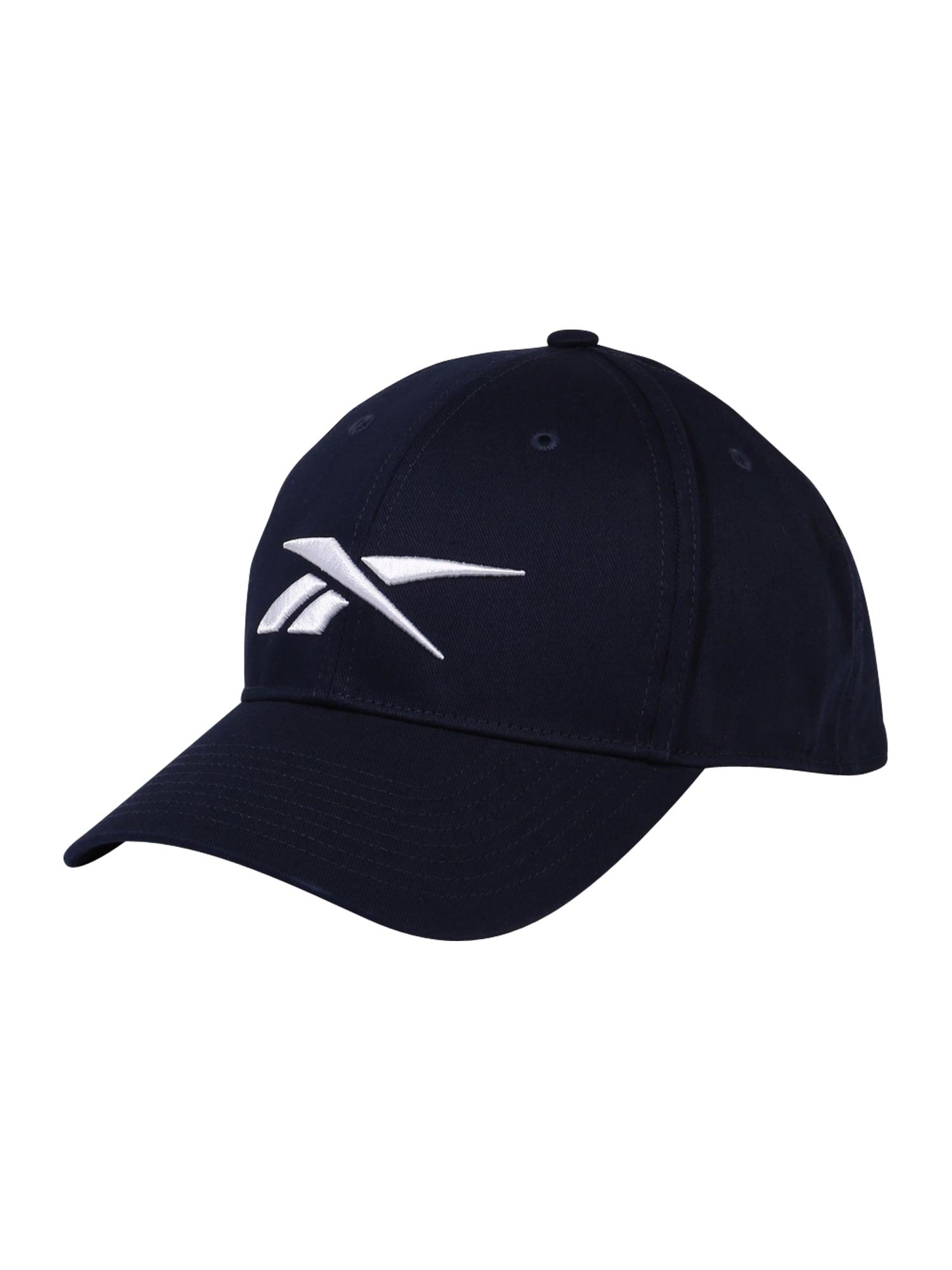 REEBOK Sportinė kepurė balta / tamsiai mėlyna jūros spalva