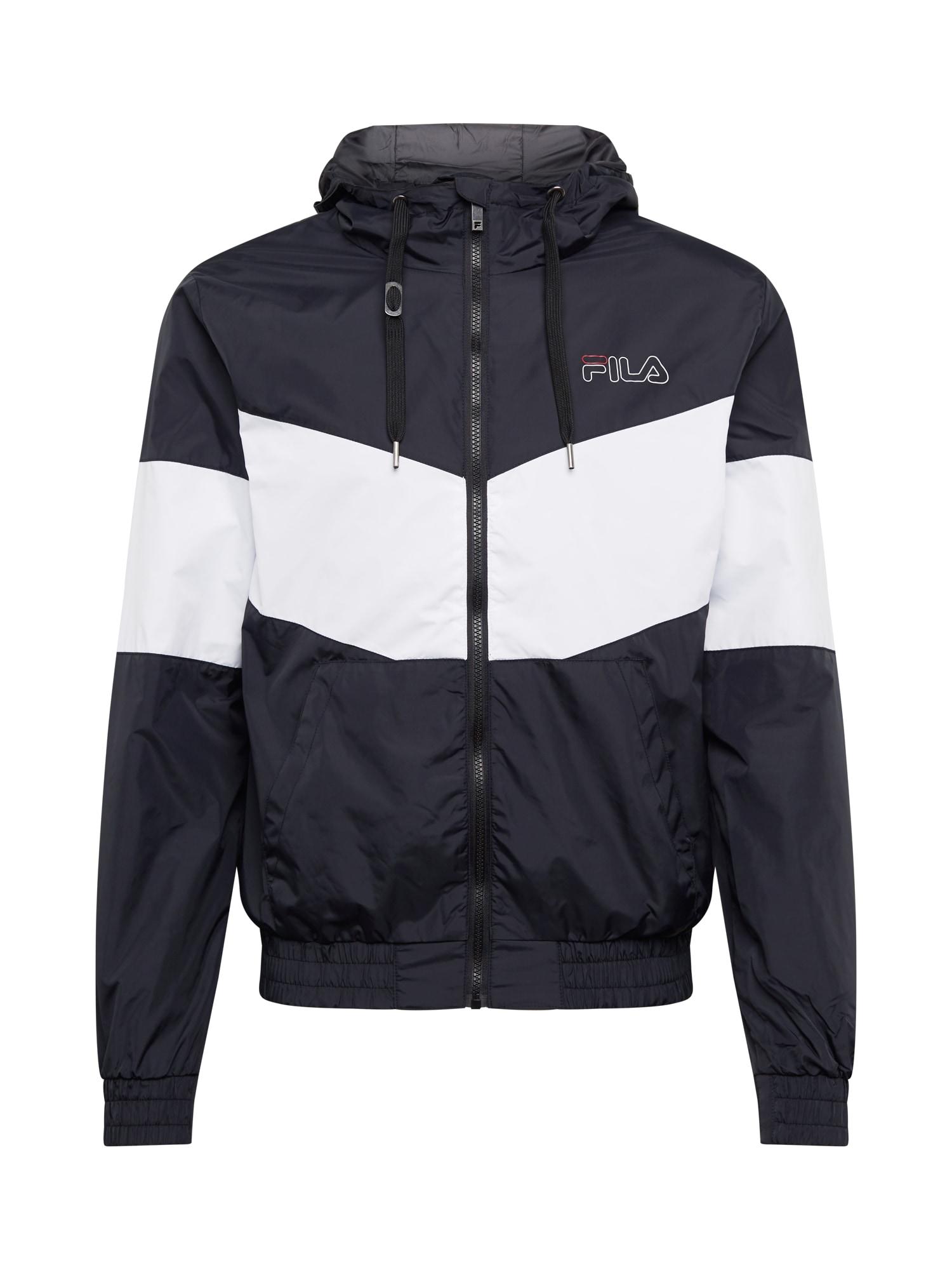 FILA Sportovní bunda 'LARRY'  bílá / černá
