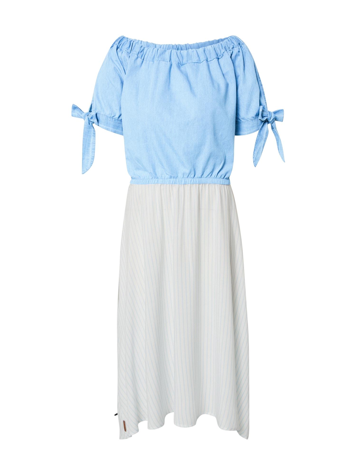 Alife and Kickin Palaidinės tipo suknelė 'Ada' balta / šviesiai mėlyna