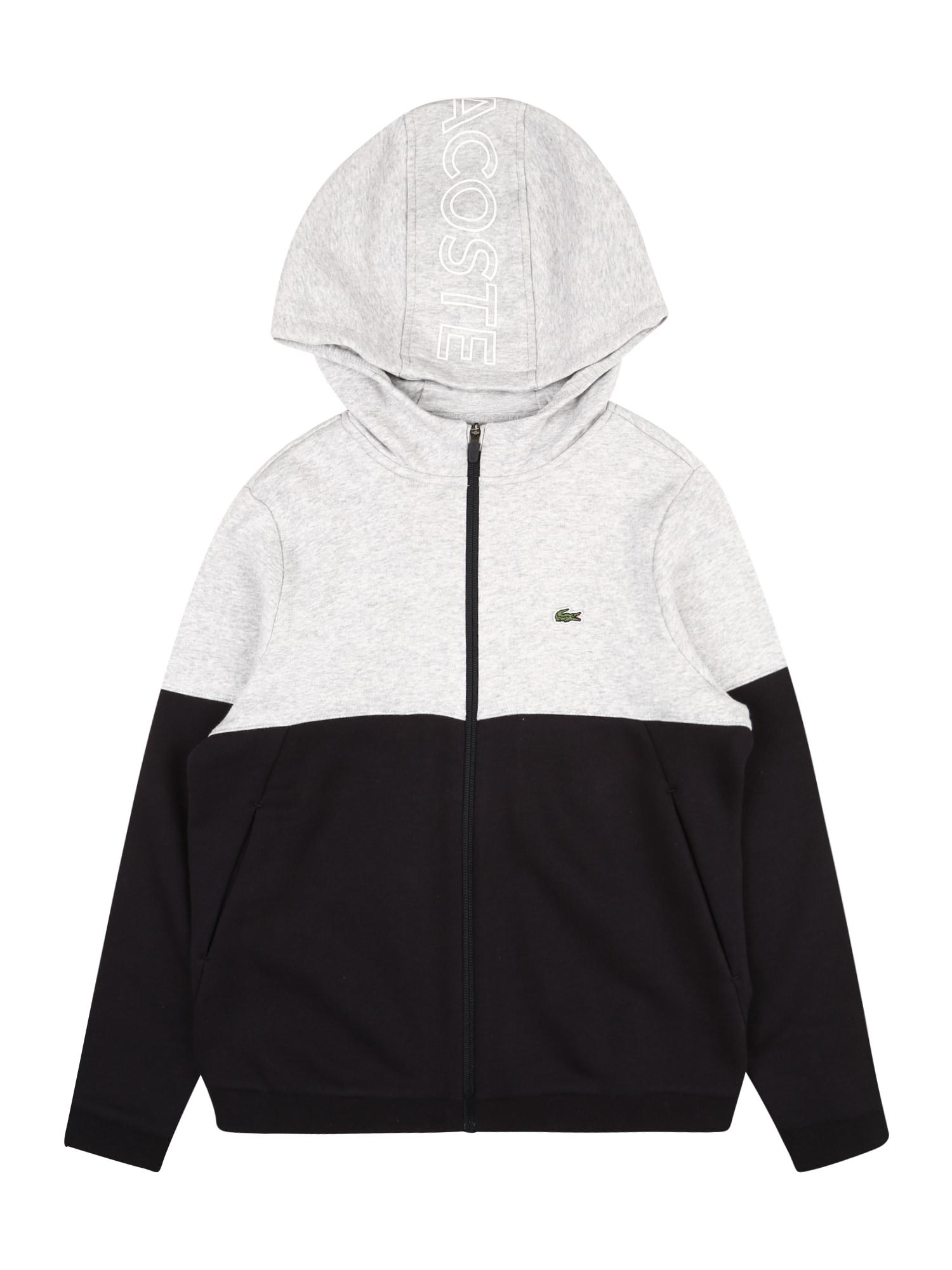 LACOSTE Džemperis pilka / juoda