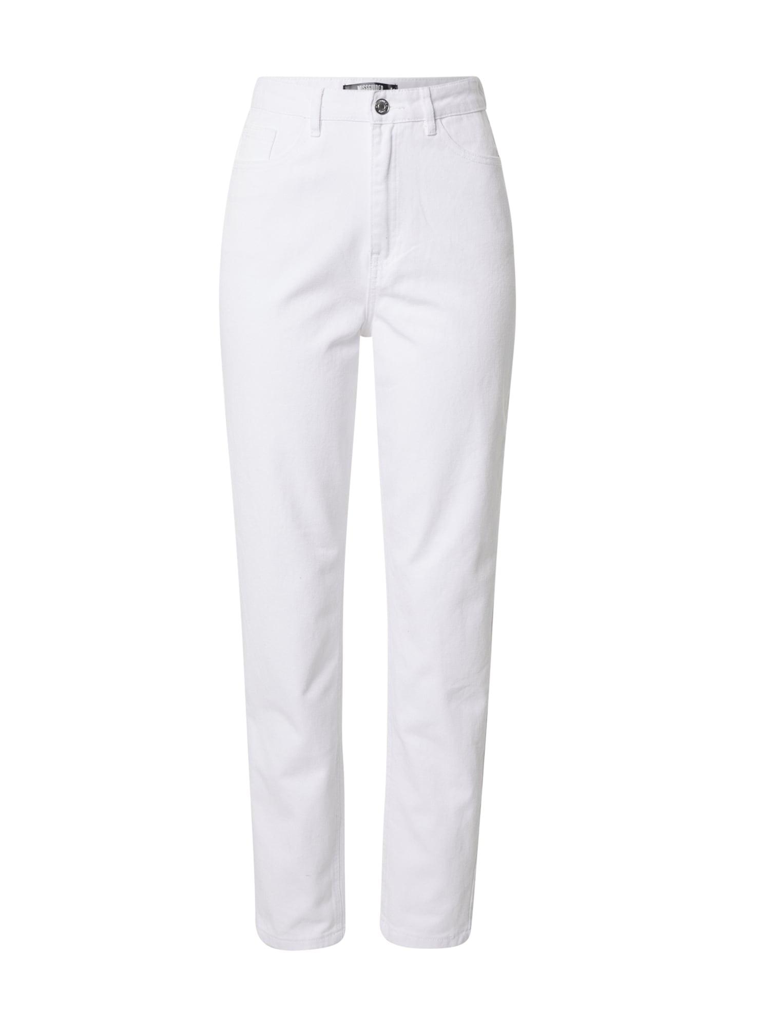 Missguided (Tall) Džinsai balto džinso spalva