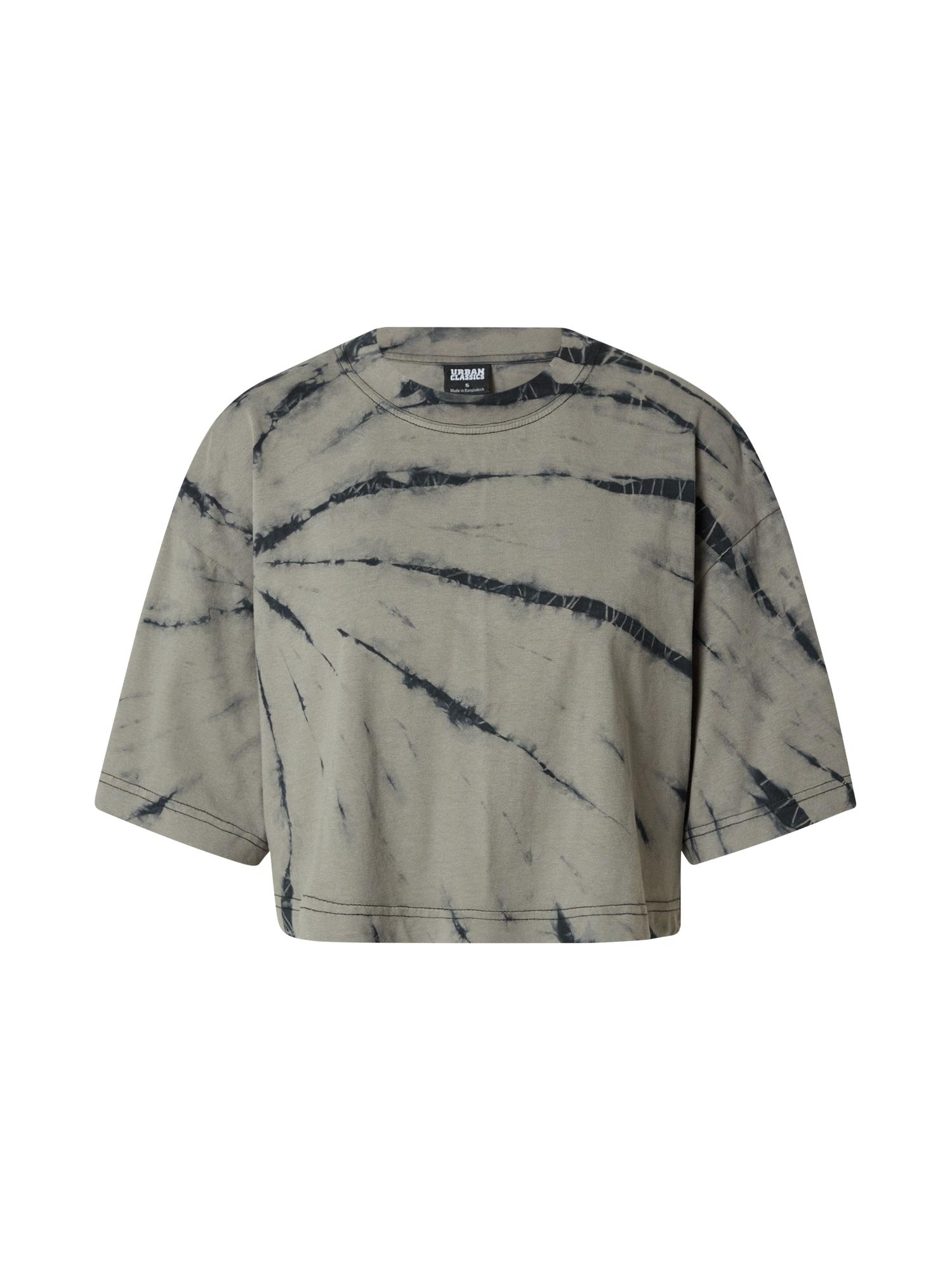 Urban Classics Tričko  černá / kouřově šedá