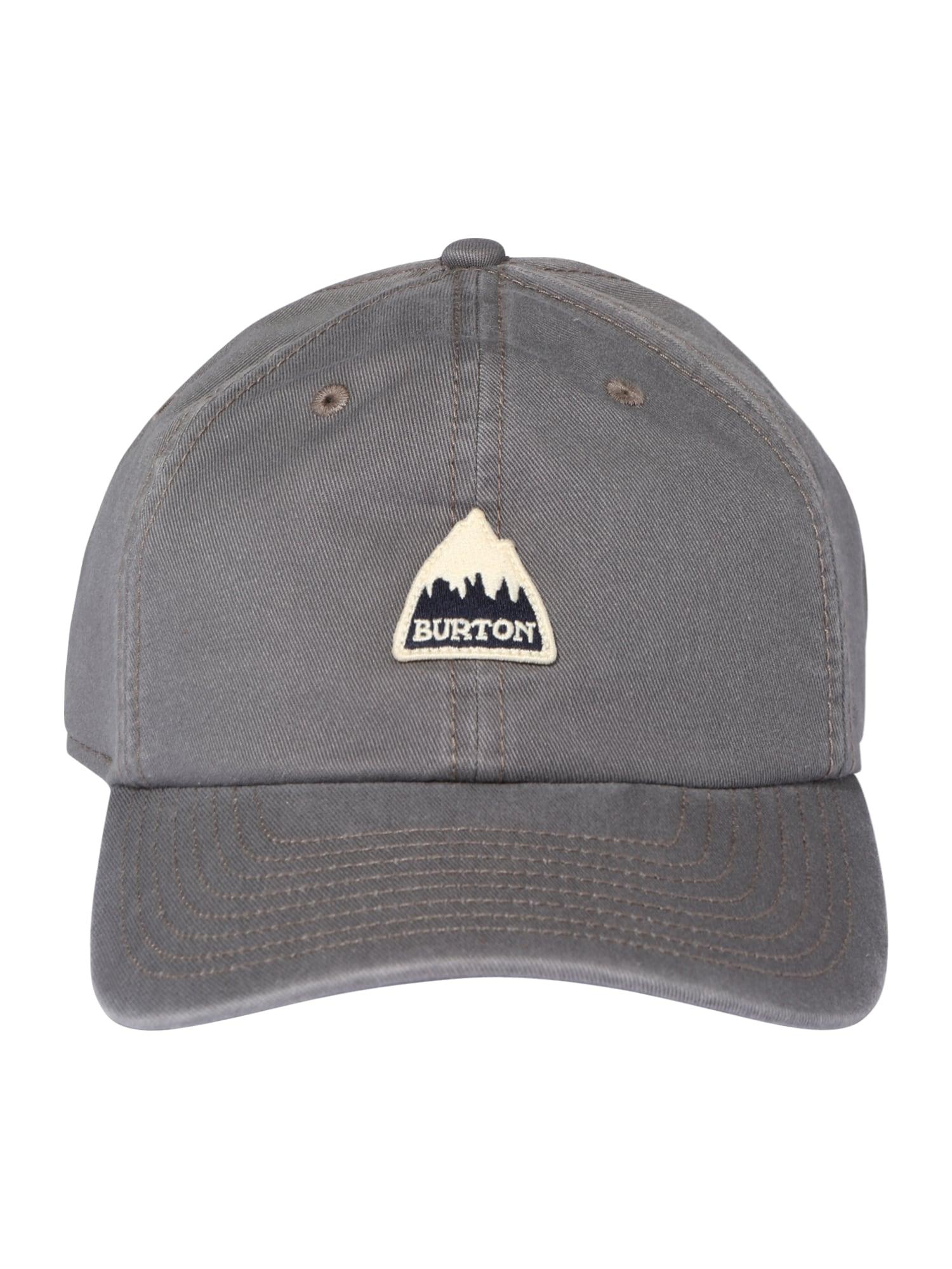 BURTON Sportinė kepurė bazalto pilka / juoda / gelsvai pilka spalva